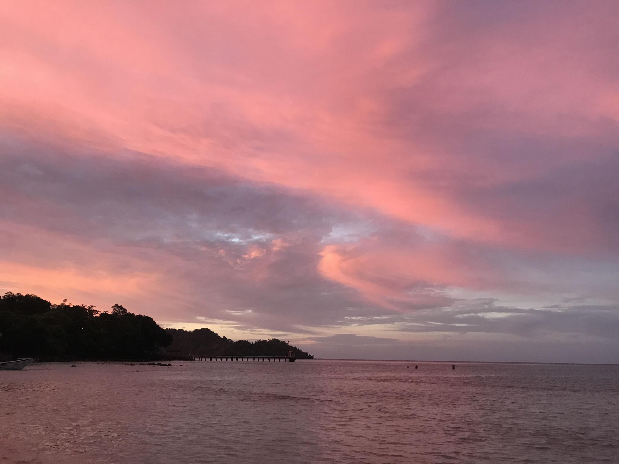 Sonnenuntergang in Gapang