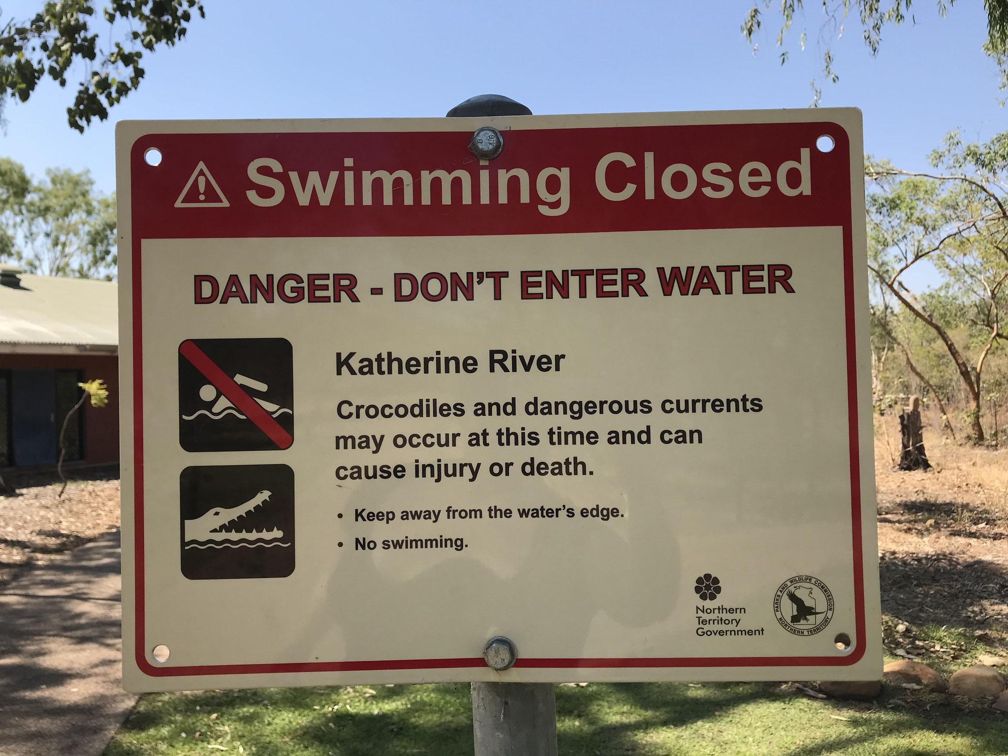 Schwimmen auf eigene Gefahr