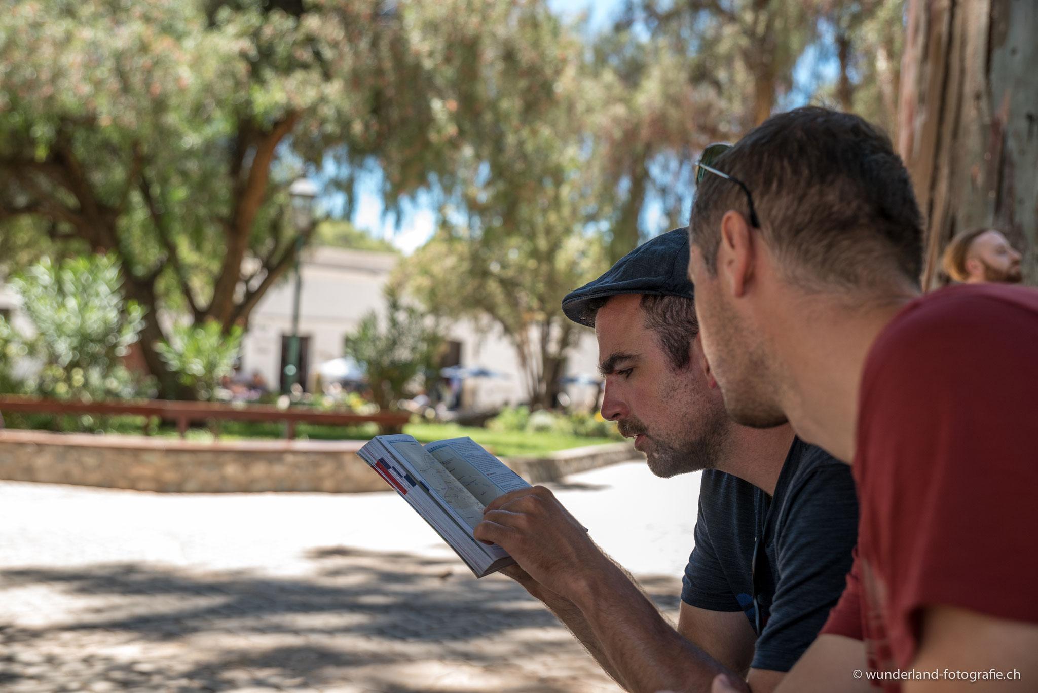 Lorenz und Jochen planen den nächsten Ausflug
