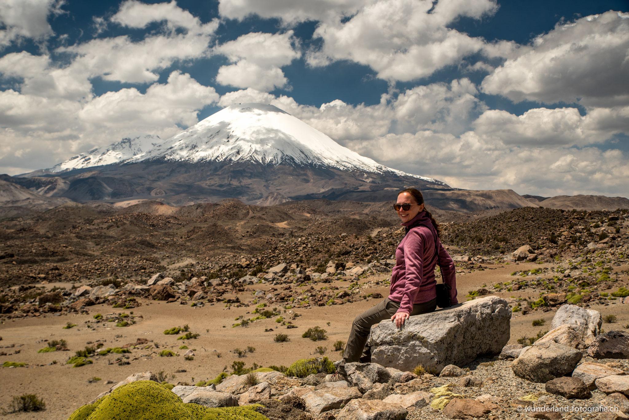 Carmen biem Vulkan Parinacota