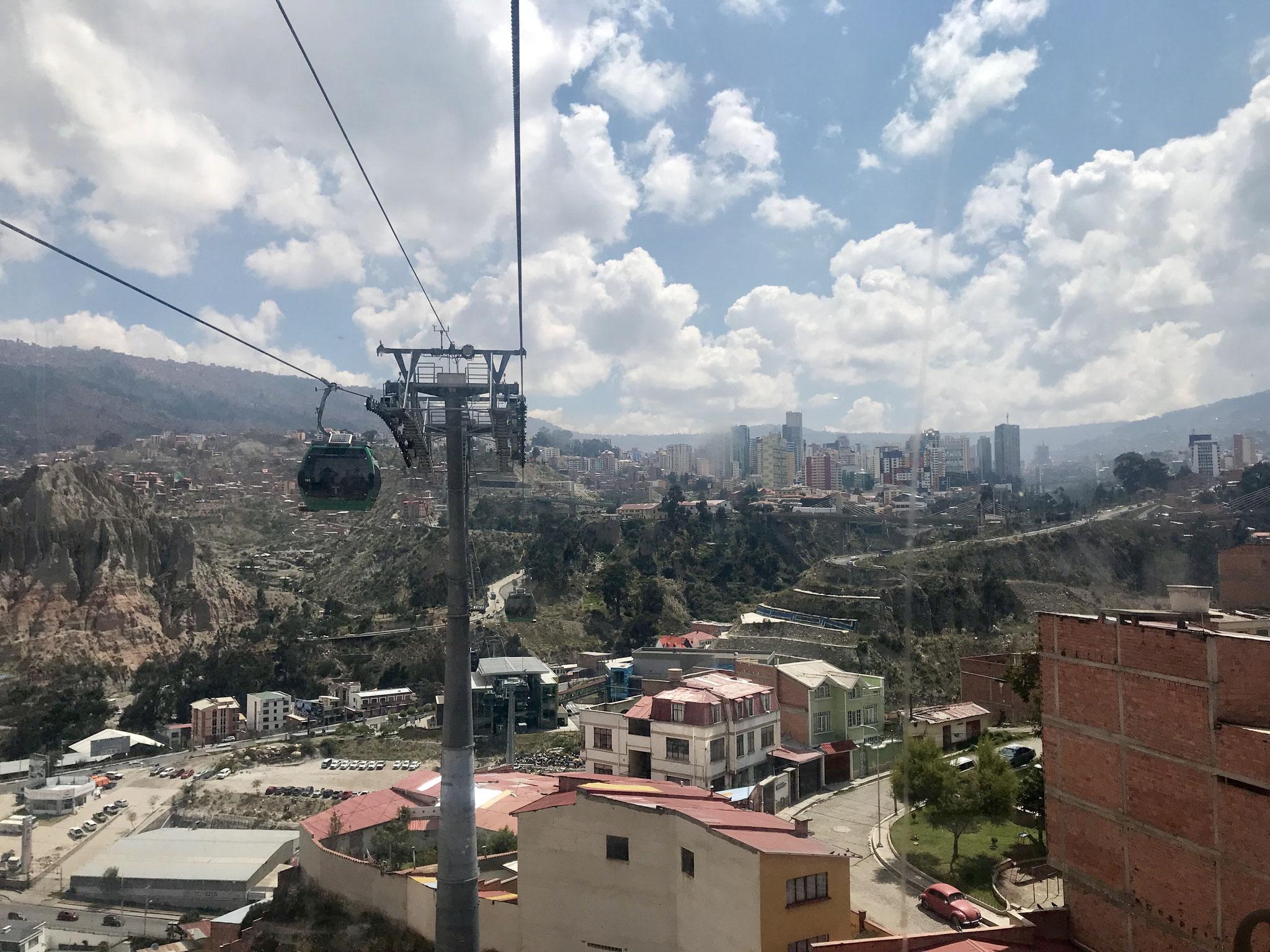 Gondelbahnen in La Paz
