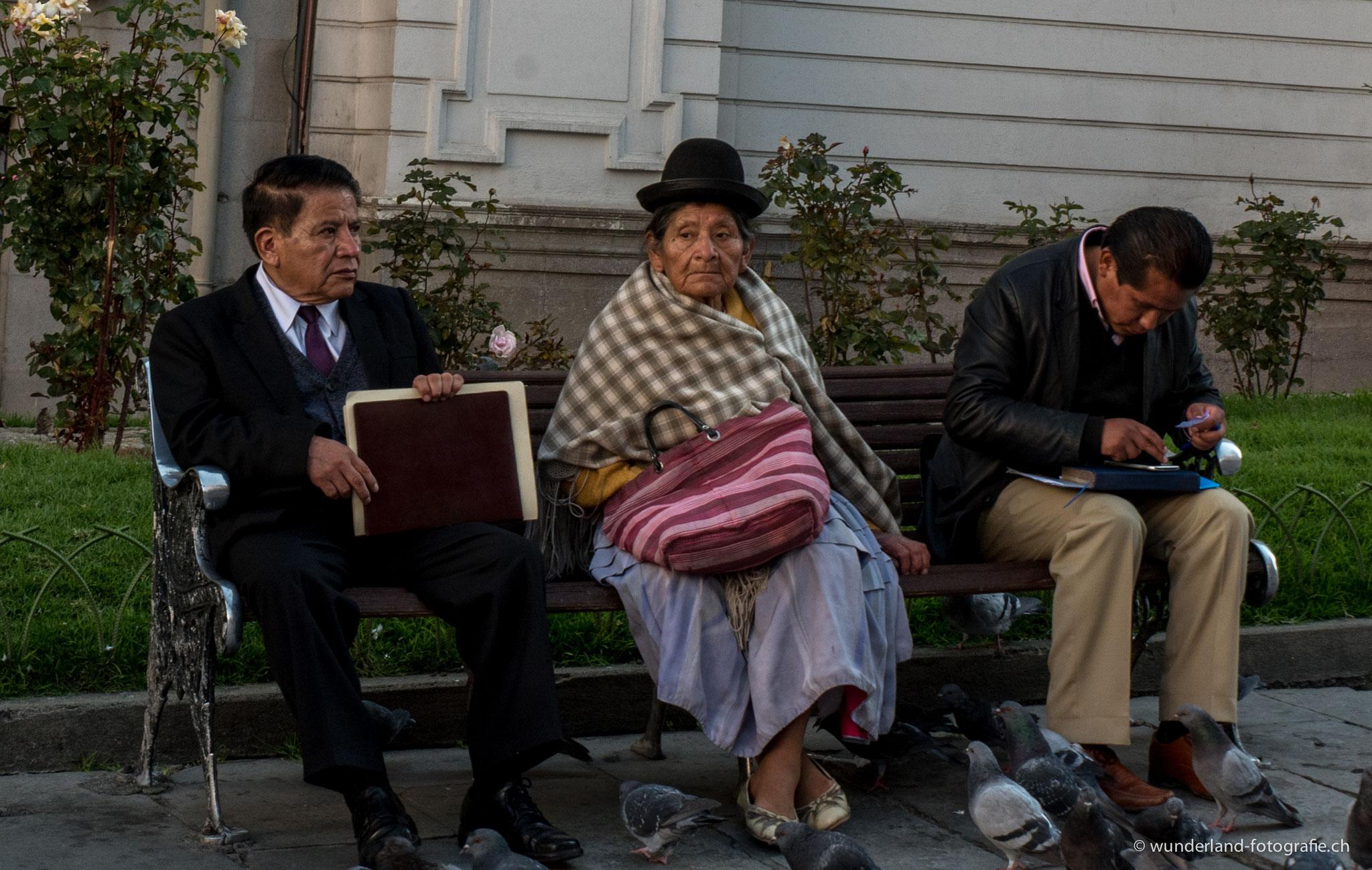 Menschen in La Paz
