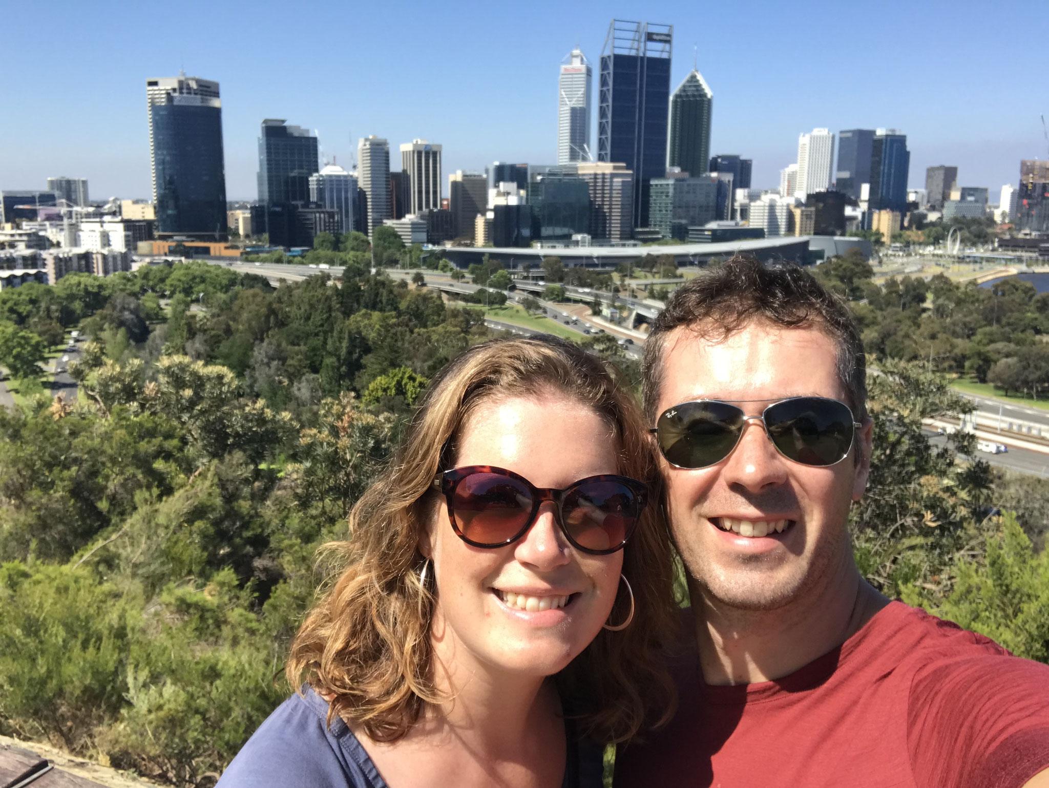 Geliebtes Perth mit einem geliebten Menschen.