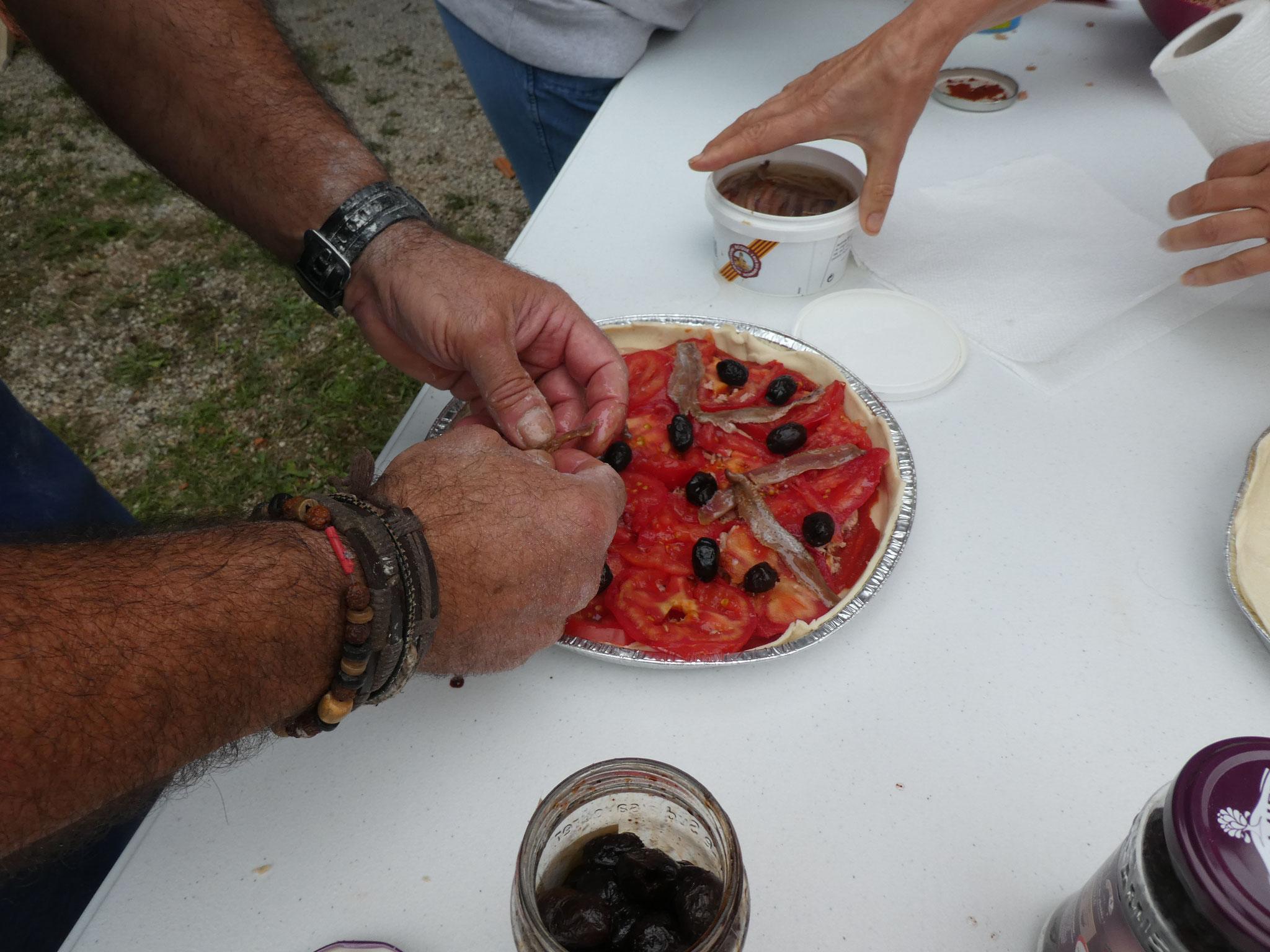 Garnissage de pizza