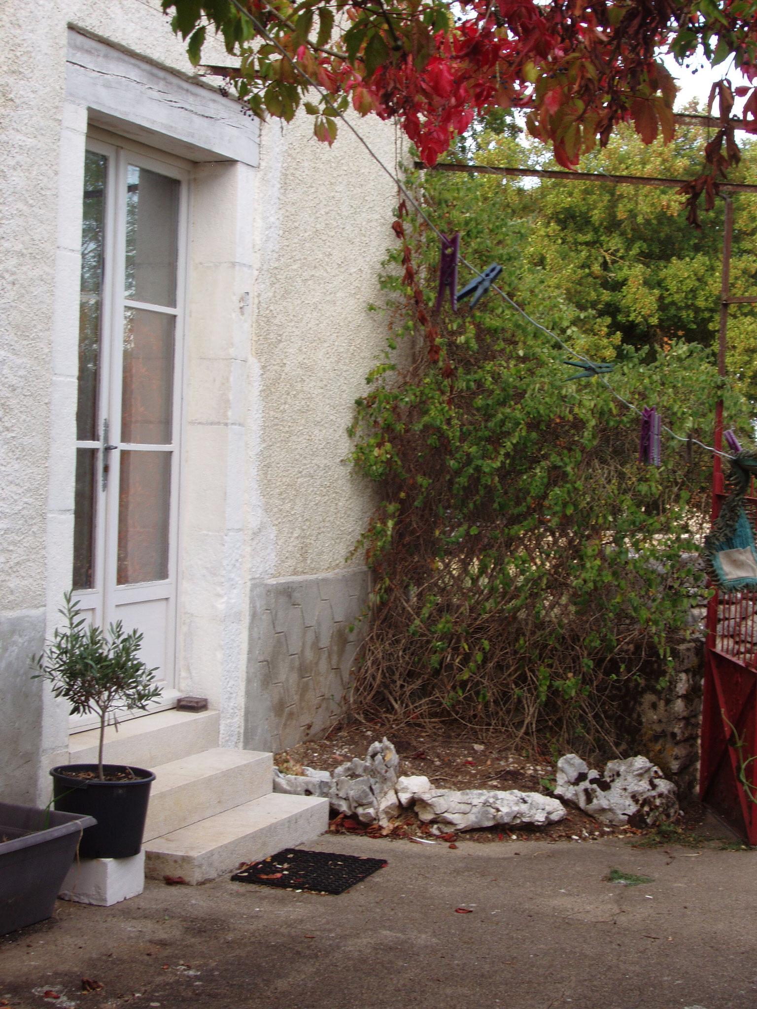 Entrée donnant sur la terrasse