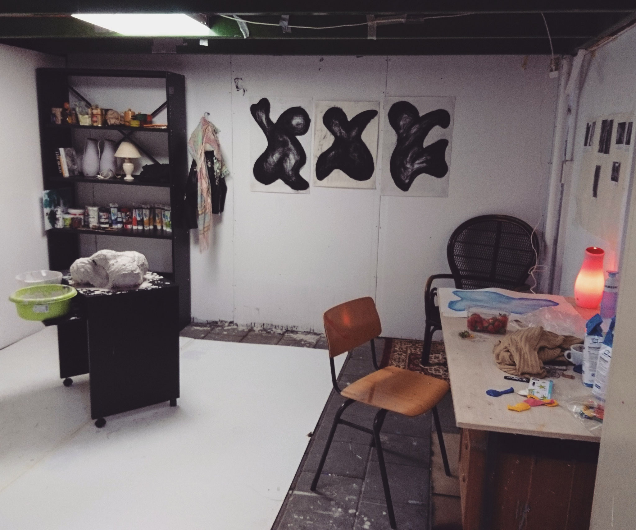 Studio at the start of my final study year