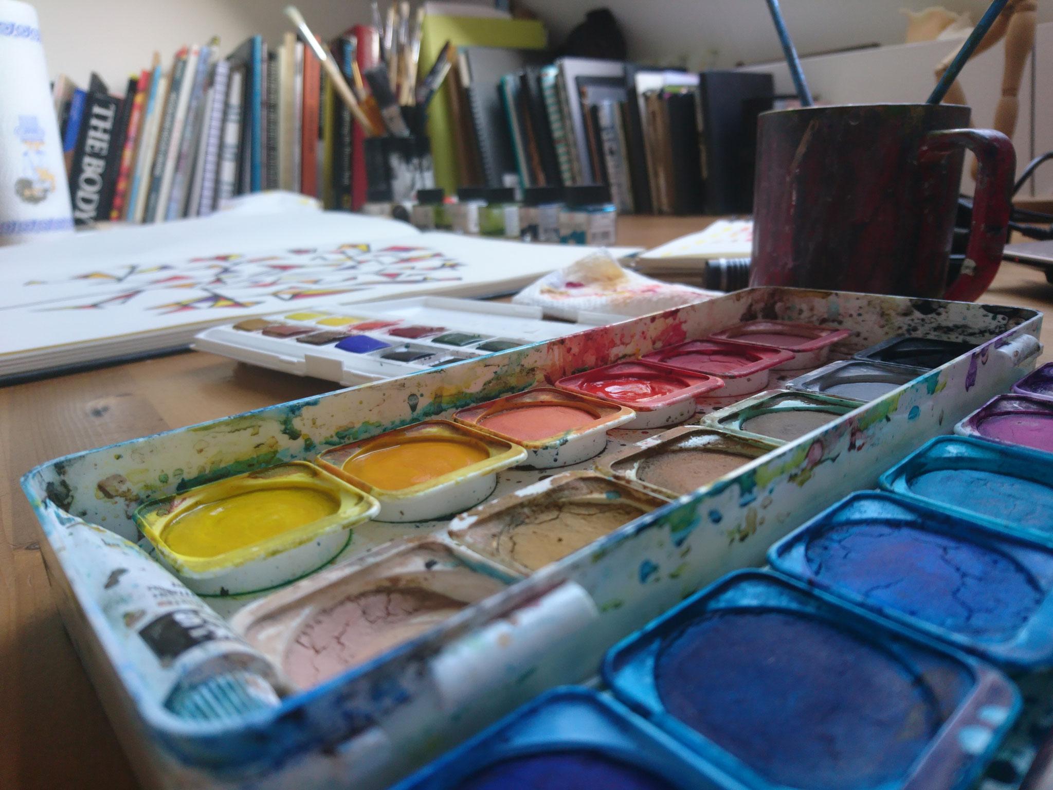 Vivid aquarells