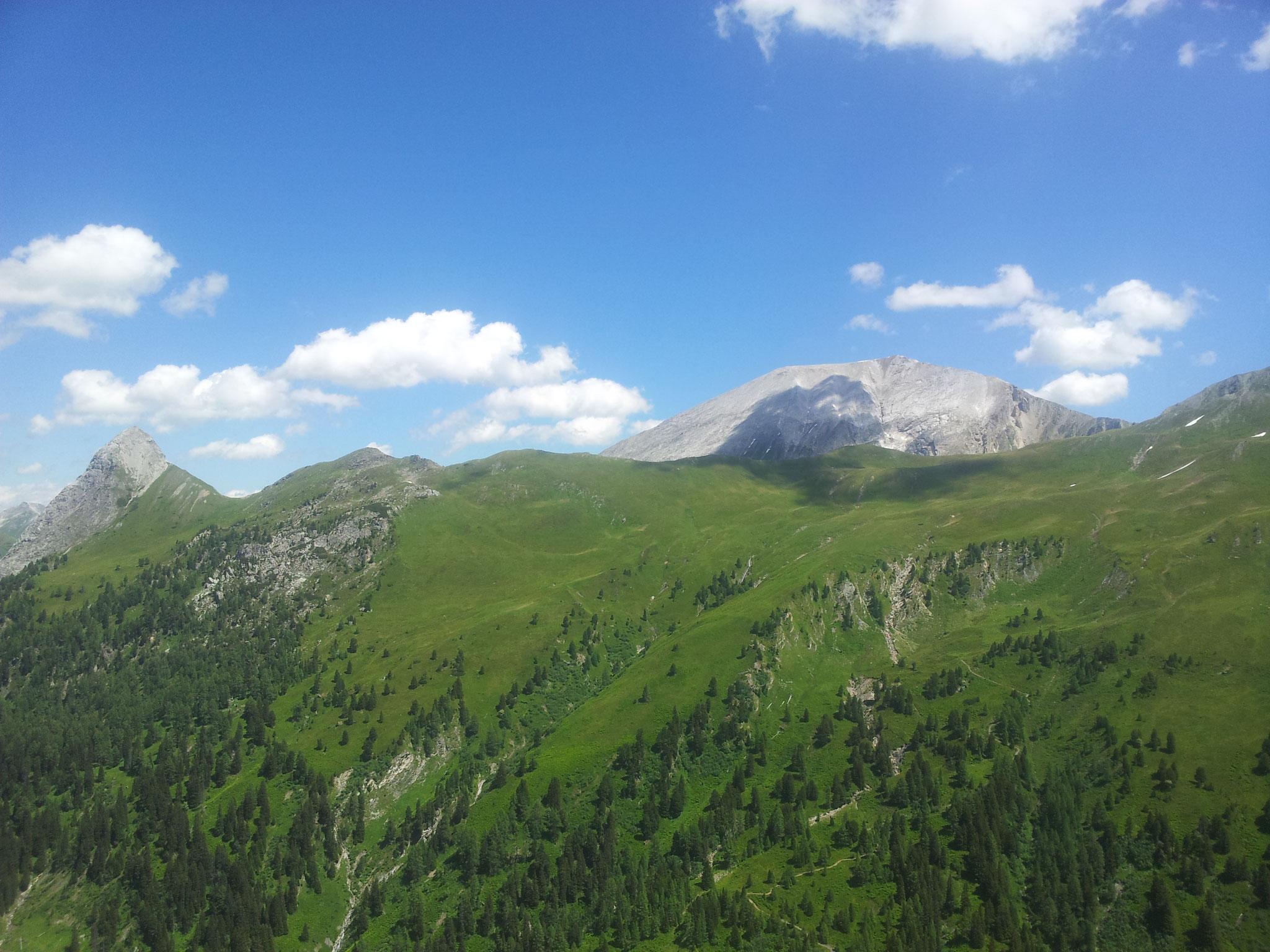 .... ein schöner Tag im Riedingtal, mit genialer Sicht aufs Weißeck....