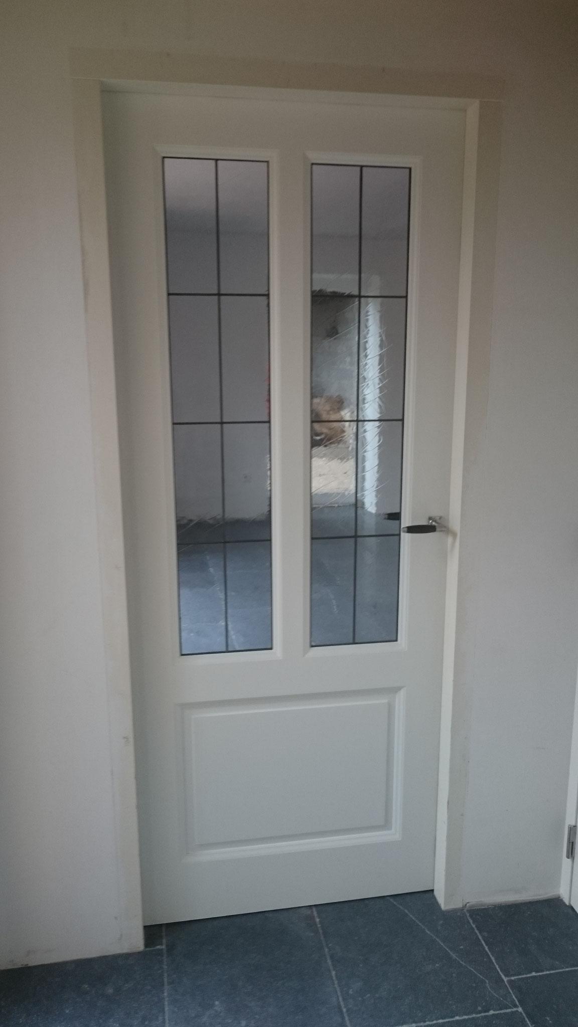 binnendeur glas-in-lood
