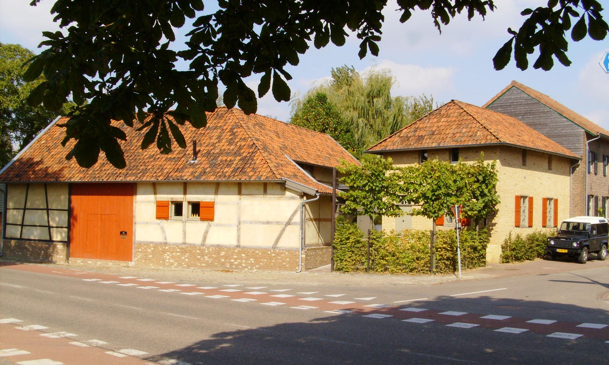 houten ramen in vakwerk Eckelrade