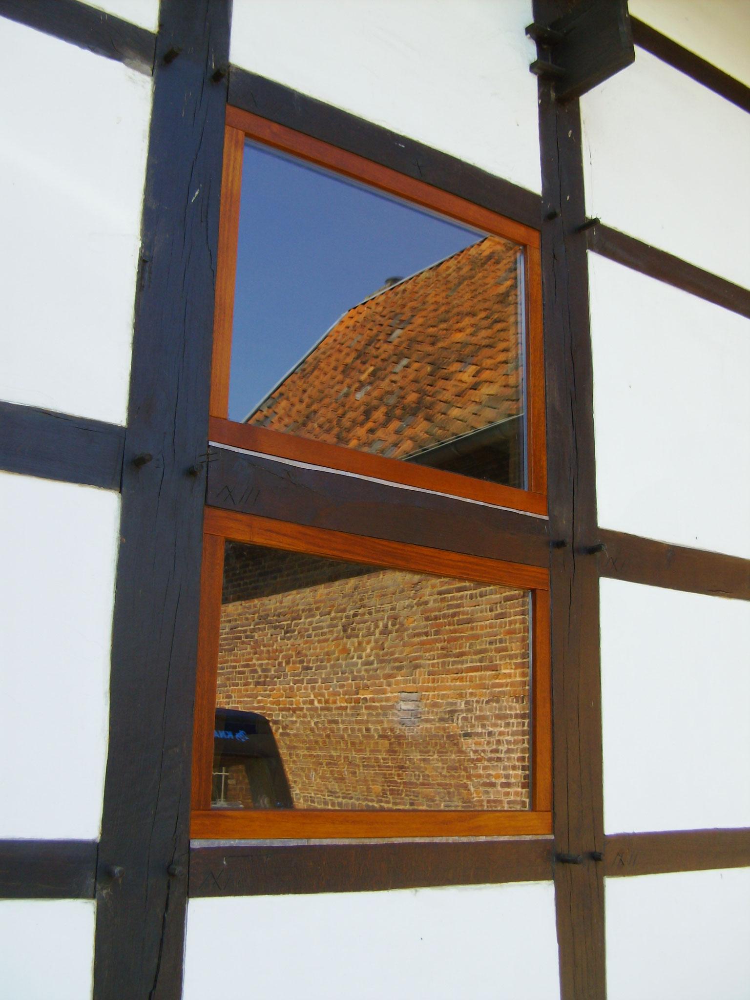 houten ramen in vakwerk Terhorst