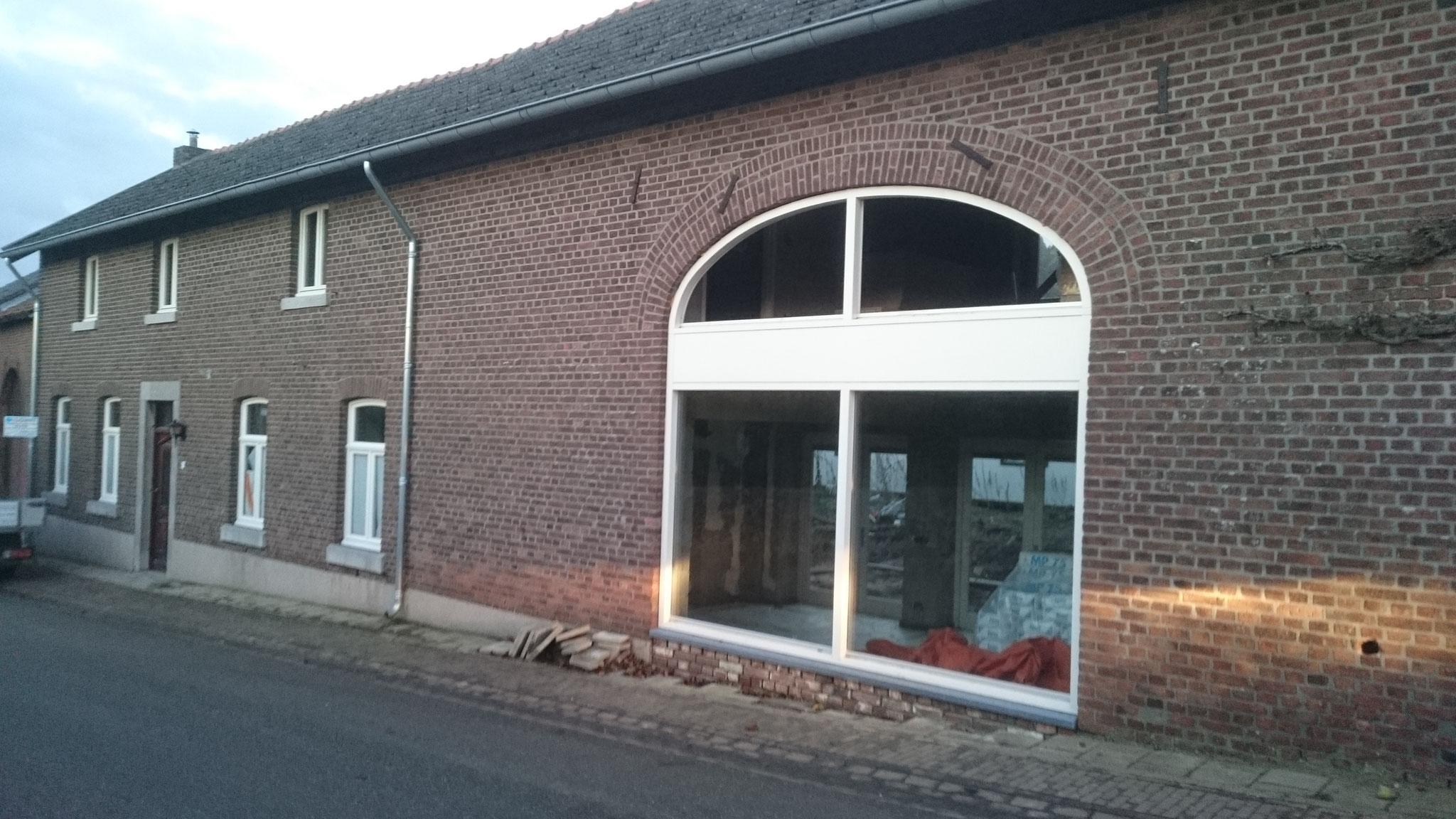 """houten pui """"korfboog"""" in Moerslag"""