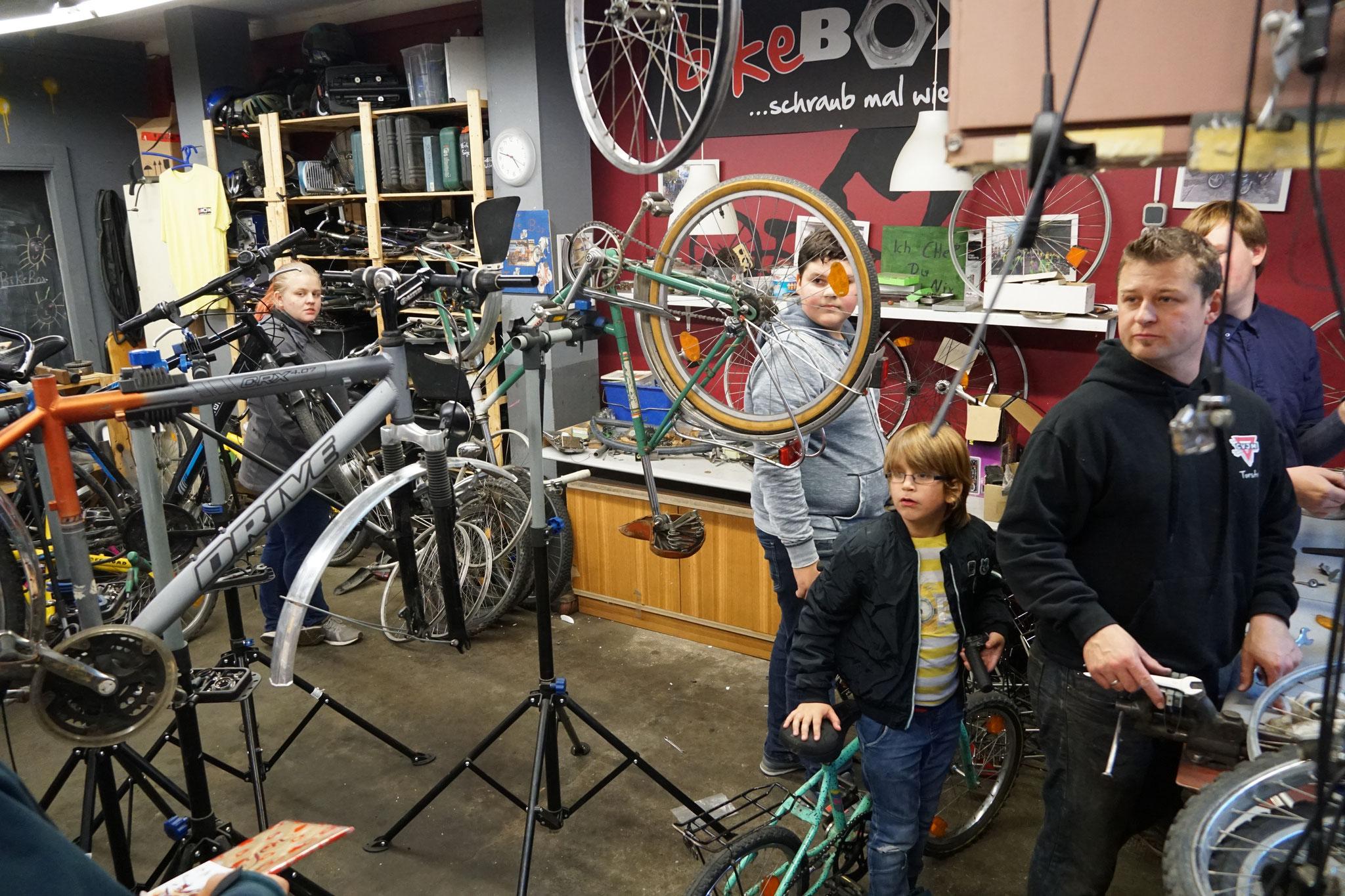 unsere Werkstatt in der bikeBOX