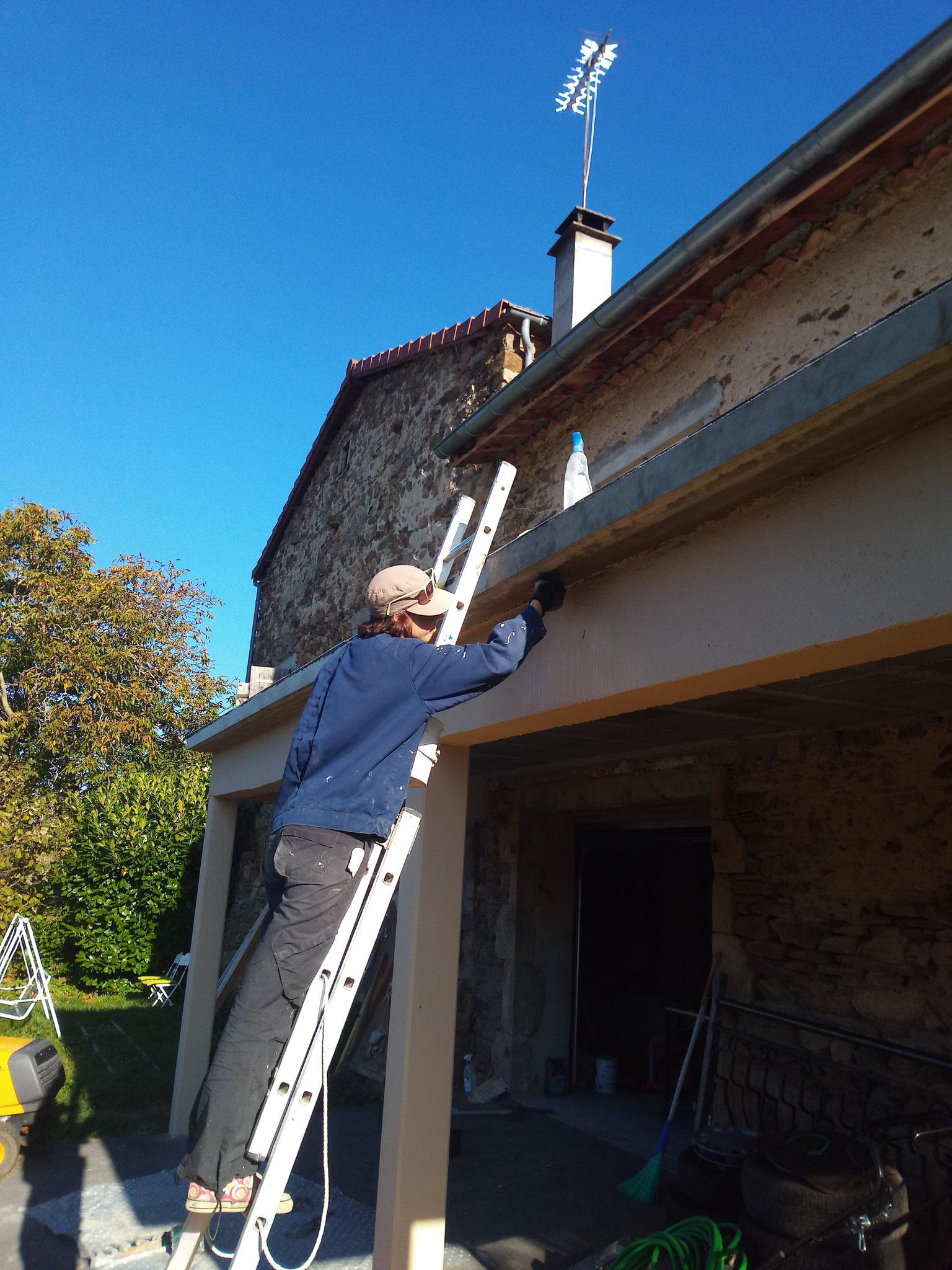 Octobre-novembre 2018 : peintures extérieures de la terrasse
