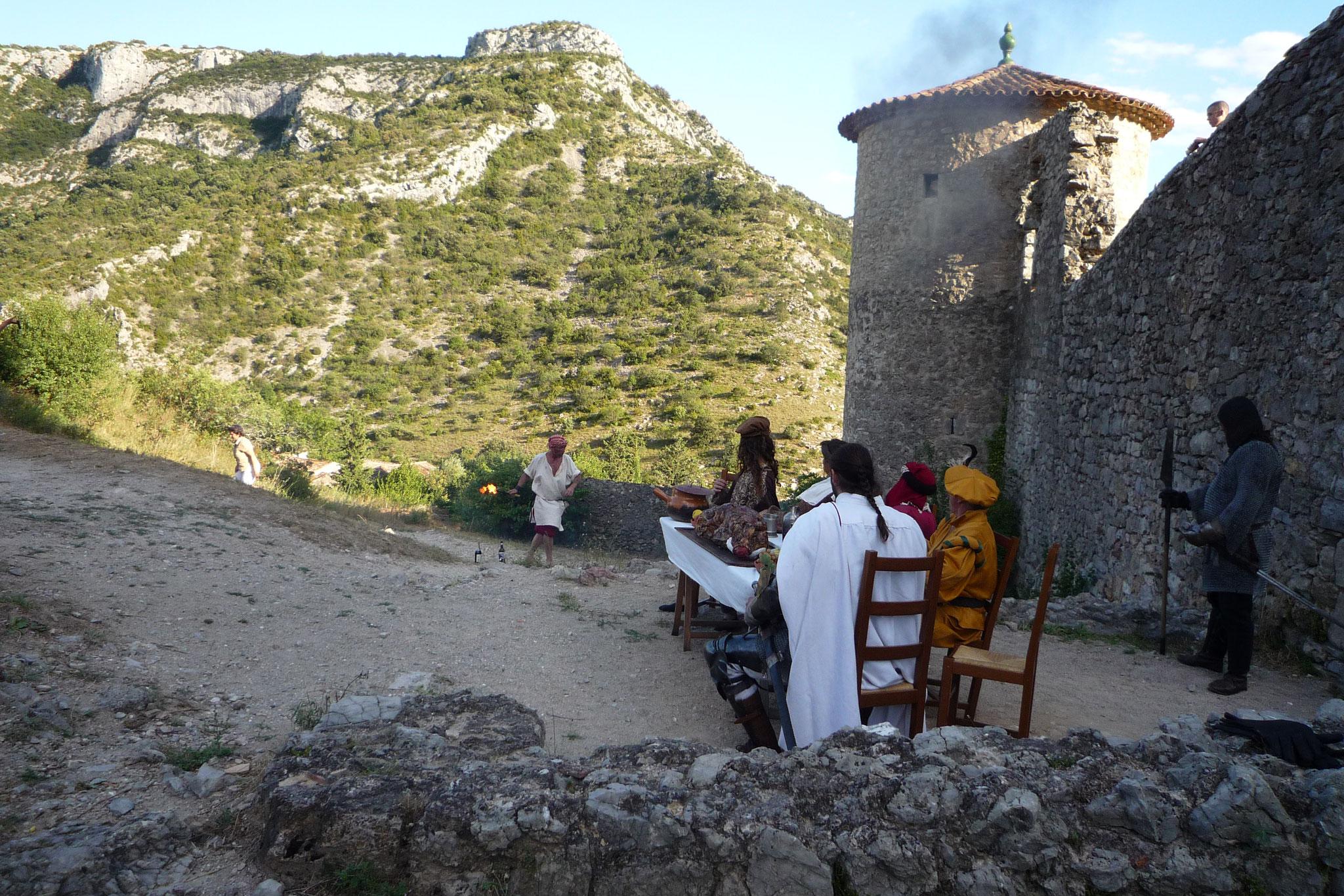 Le Château de Baulx et les Cathares - photos du spectacle