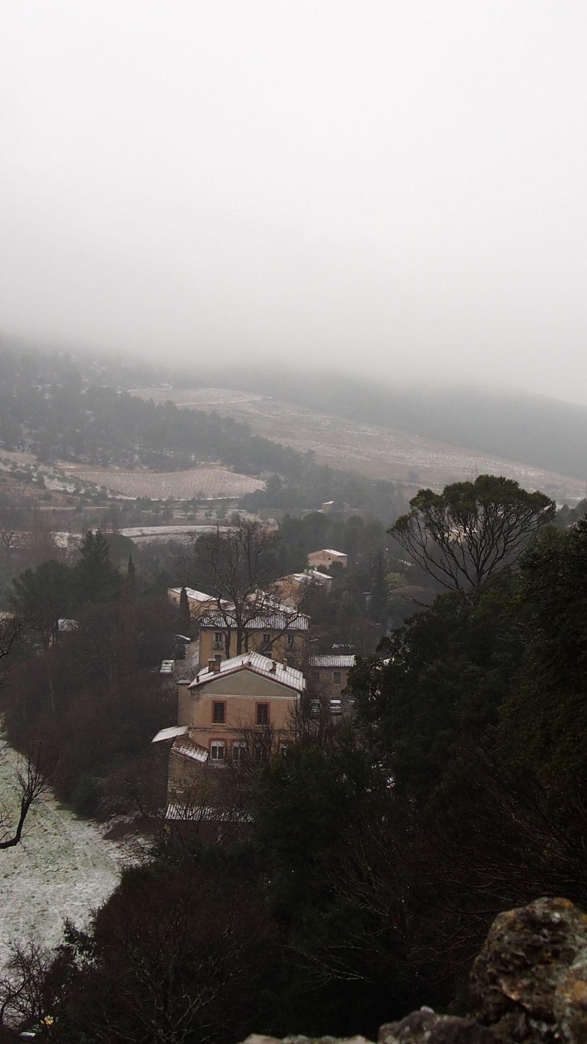 Saint Jean de Buèges sous la neige