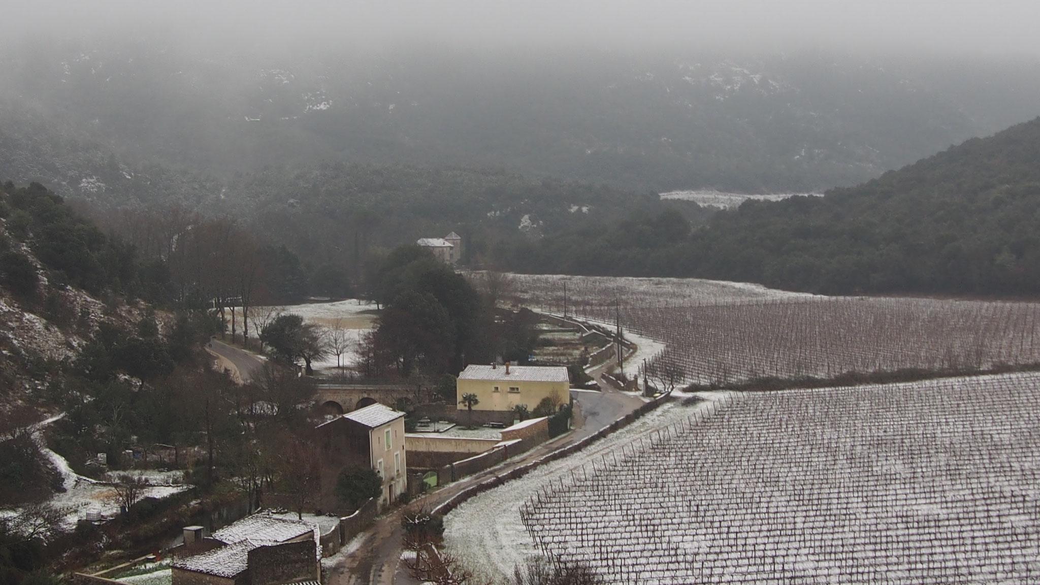La Buèges sous la neige
