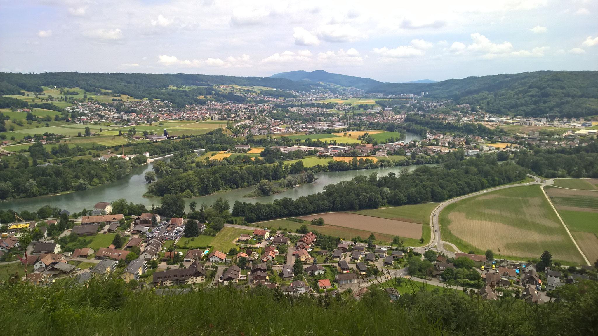 2015 - Sicht auf Lauffohr vom Wassserschlossblick auf dem Brugger Berg (Quelle: Privatfoto)