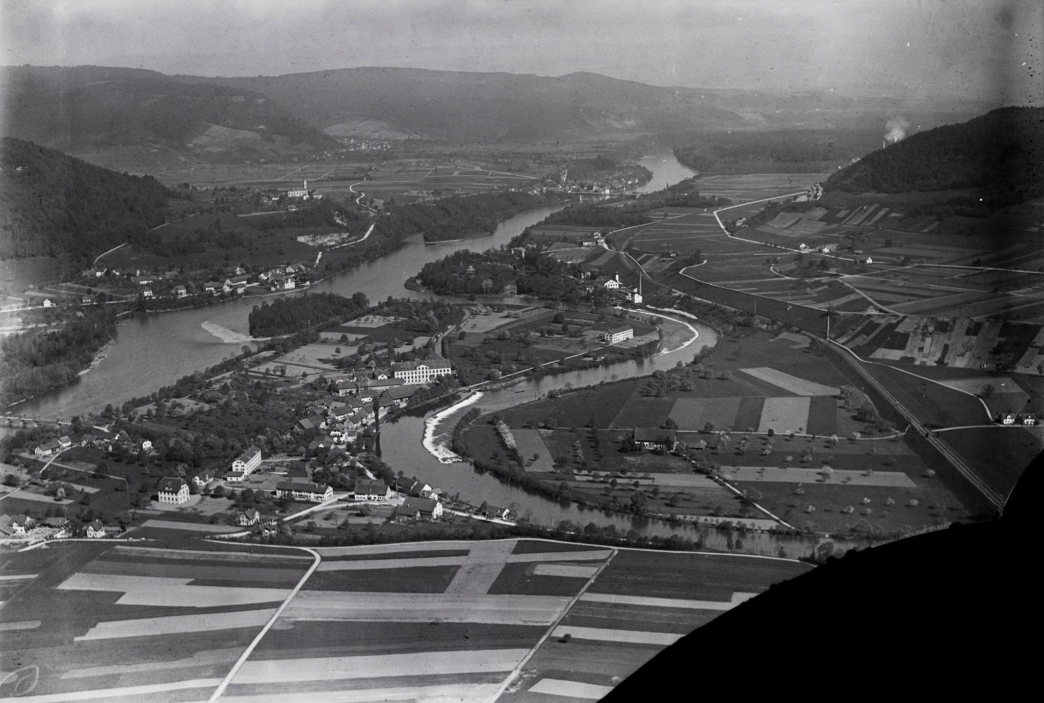 1923 - Vogelsang, Lauffohr (Quelle: luftbilder-der-schweiz.ch)