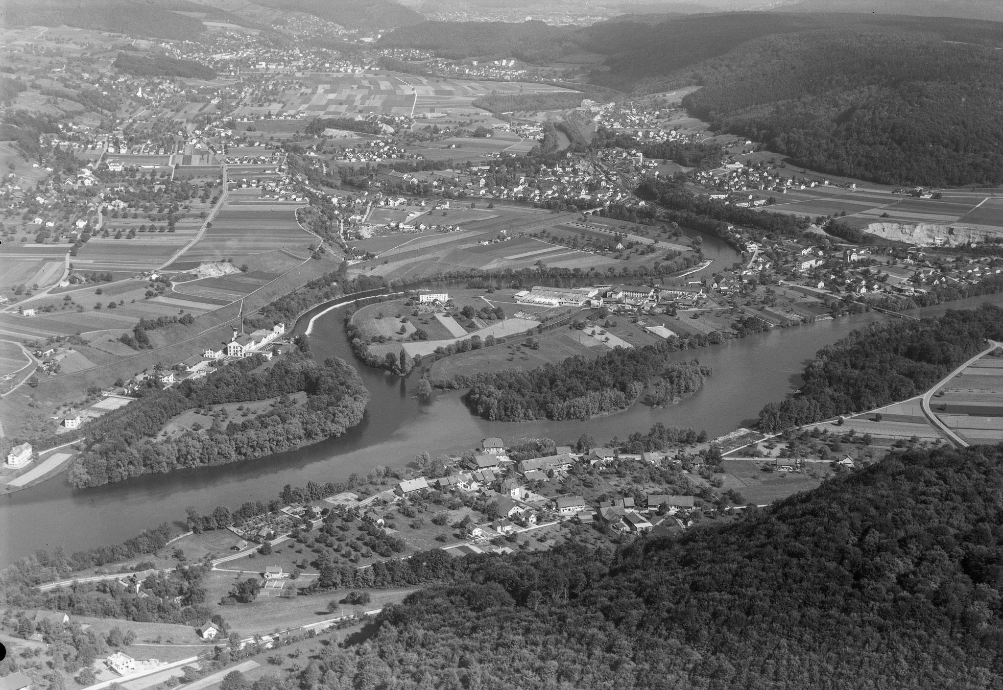 1963 - unten Lauffohr (Quelle: luftbilder-der-schweiz.ch)