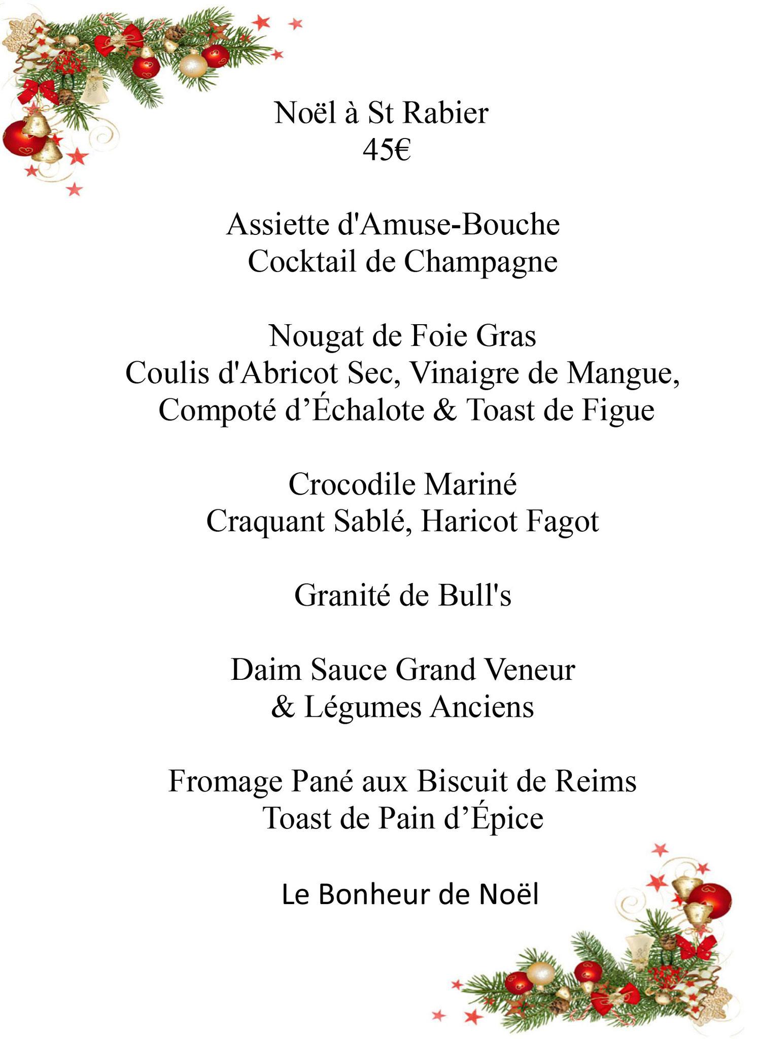 Menu De Noel Grand Chef.C Est Arrive Pres De Chez Vous Mairie De Saint Rabier