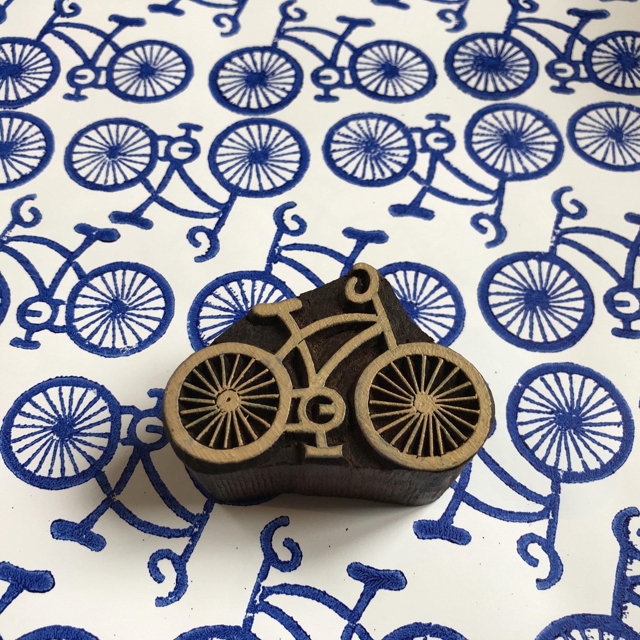 Fahrrad Stempel für Textildruck