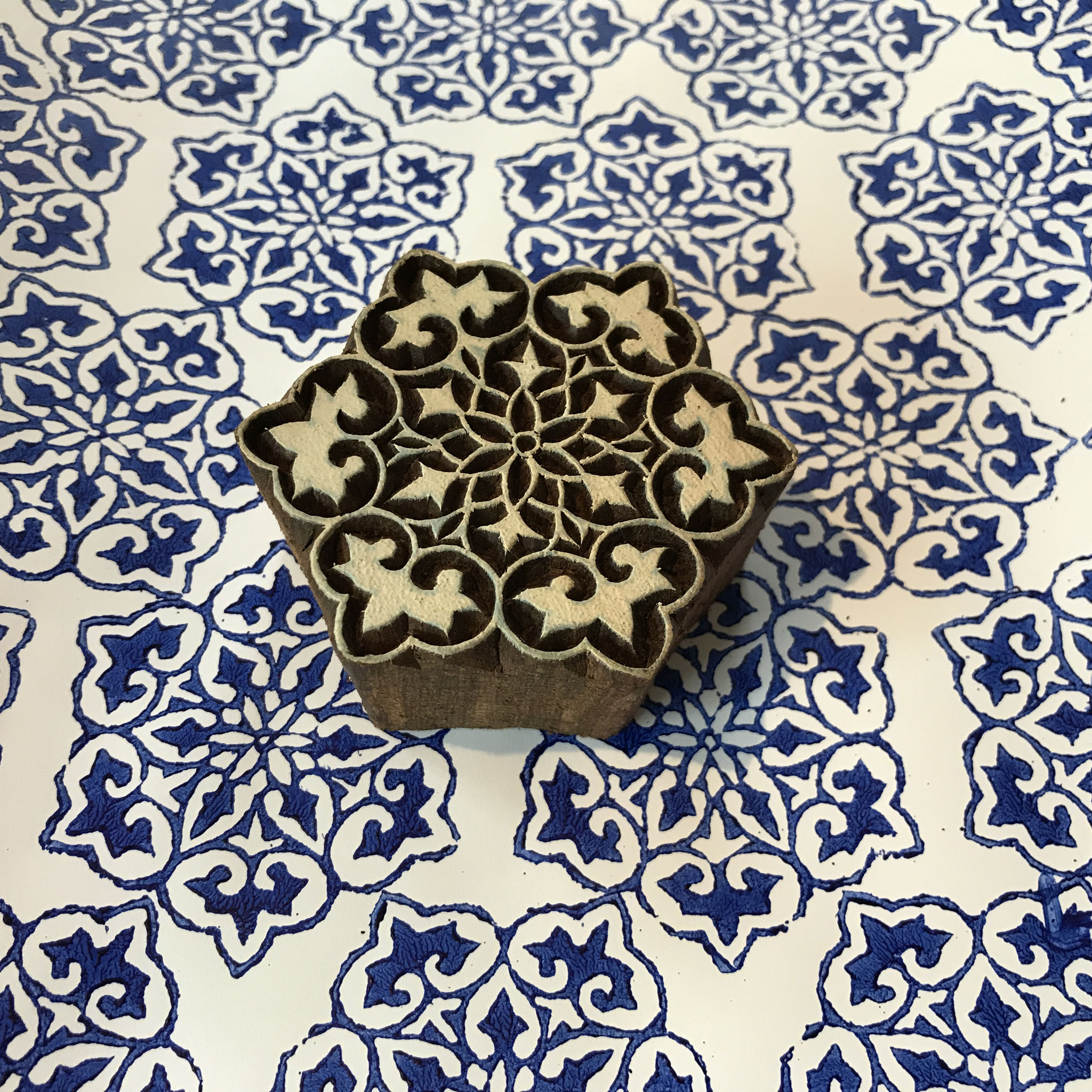 Textildruck Kurse Wädenswil mit indischen Holzstempel