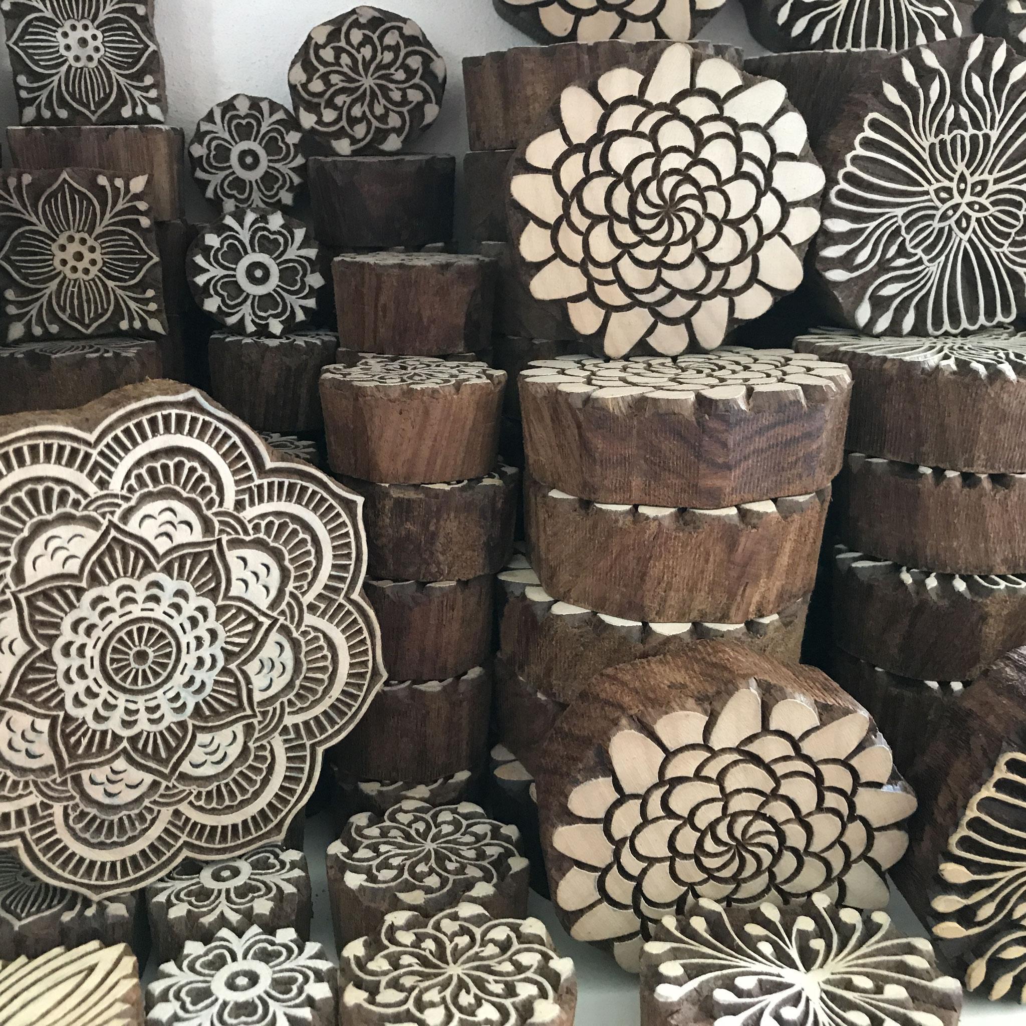 Holzstempel für Textildruckund oder  Keramikstempel