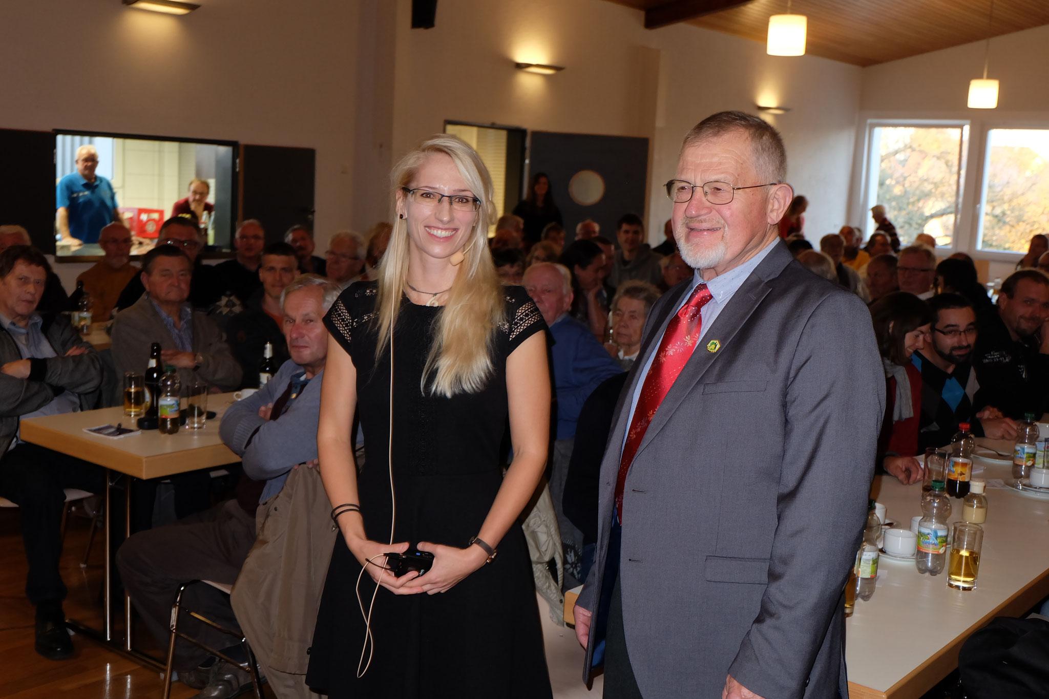 Referentin Frau Dr. Bettina Ziegelmann und Helmut Knäple