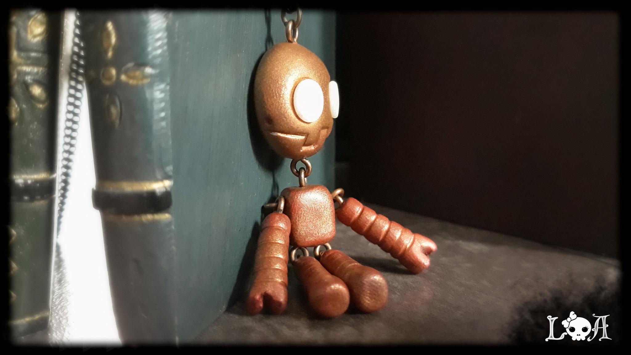 Steampunk Robot Necklace