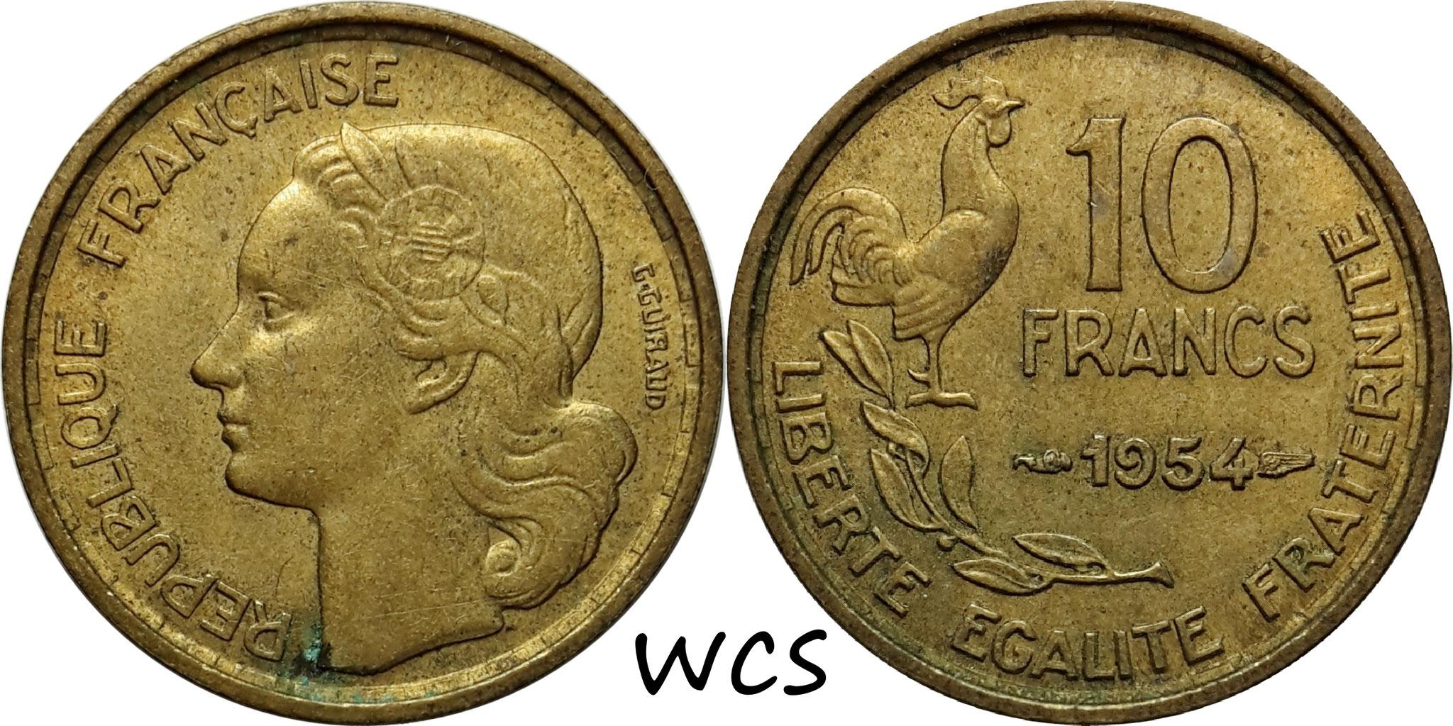 France 10 Francs 1954