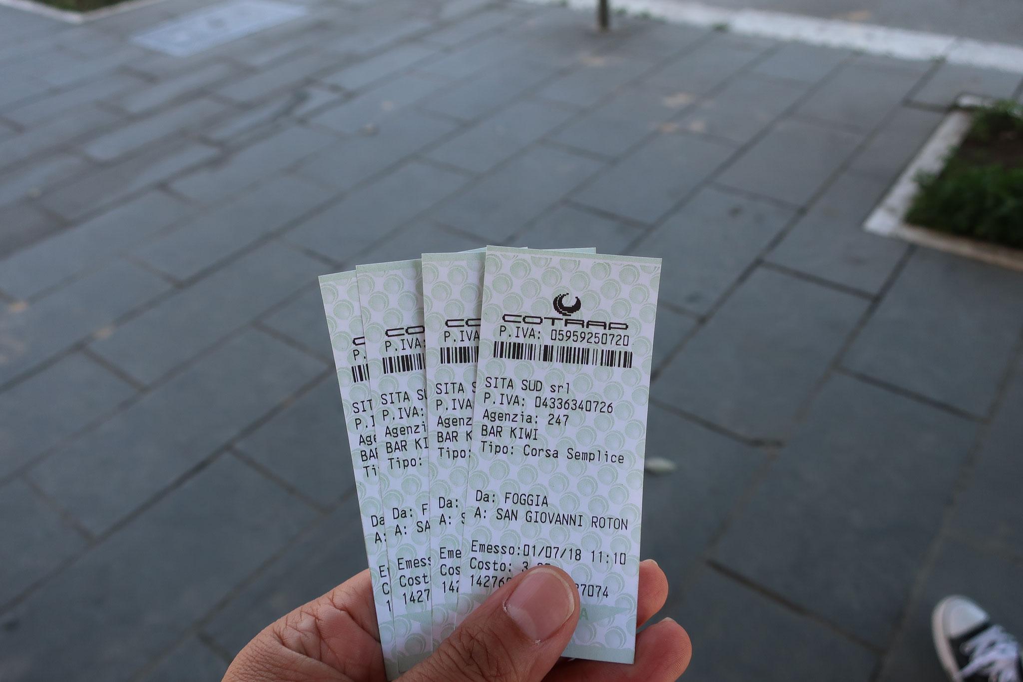 2名往復で12ユーロ!安い! 帰りのチケットもちゃんと購入しておきましょう