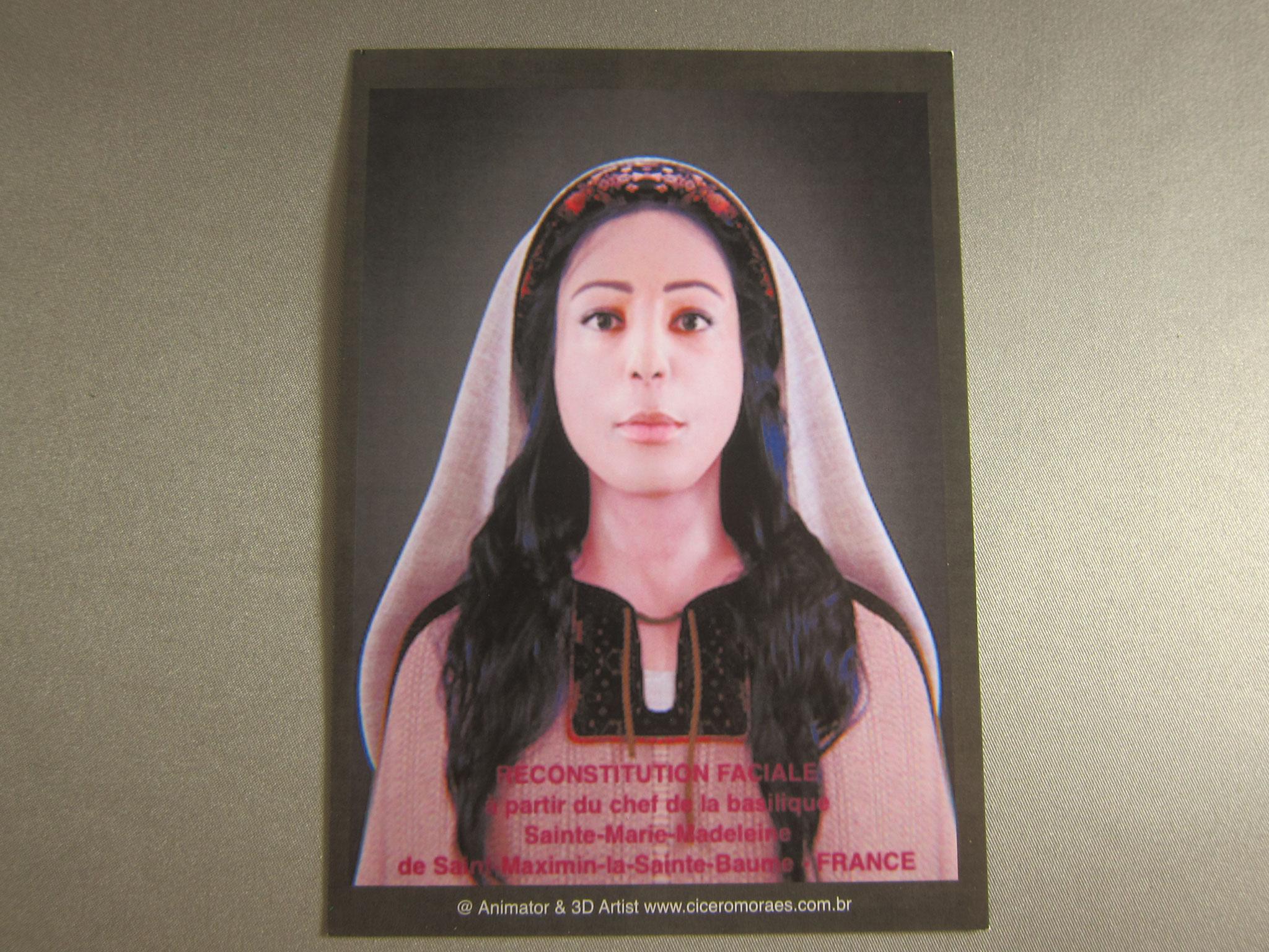こちらが頭骨から復元されたマグダラのマリアのお顔です とても美人です