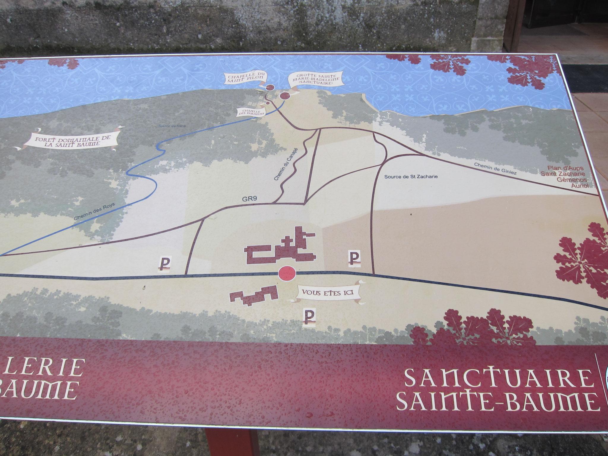 セントバウムに行く地図