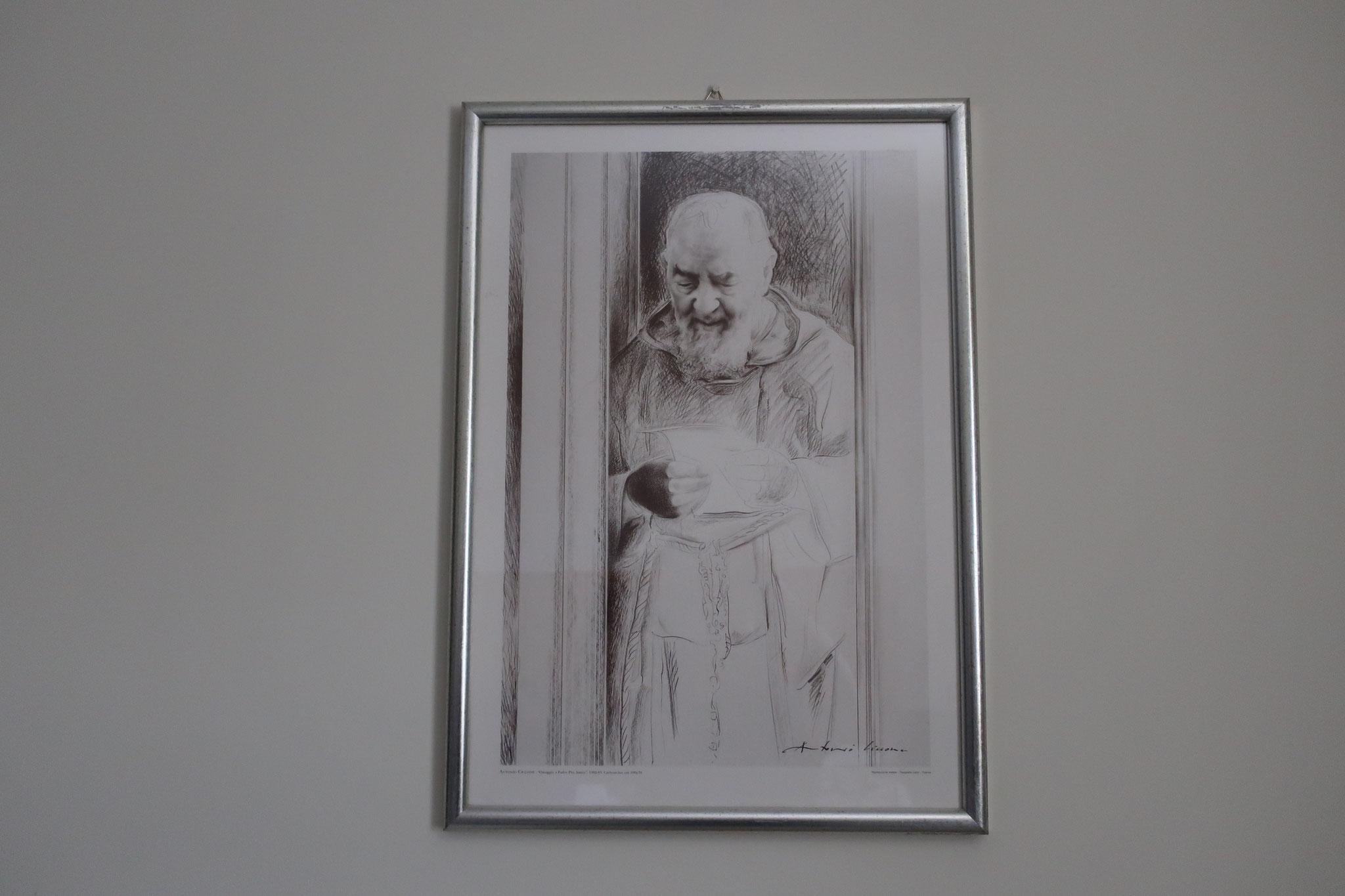 部屋にもピオ神父のご絵