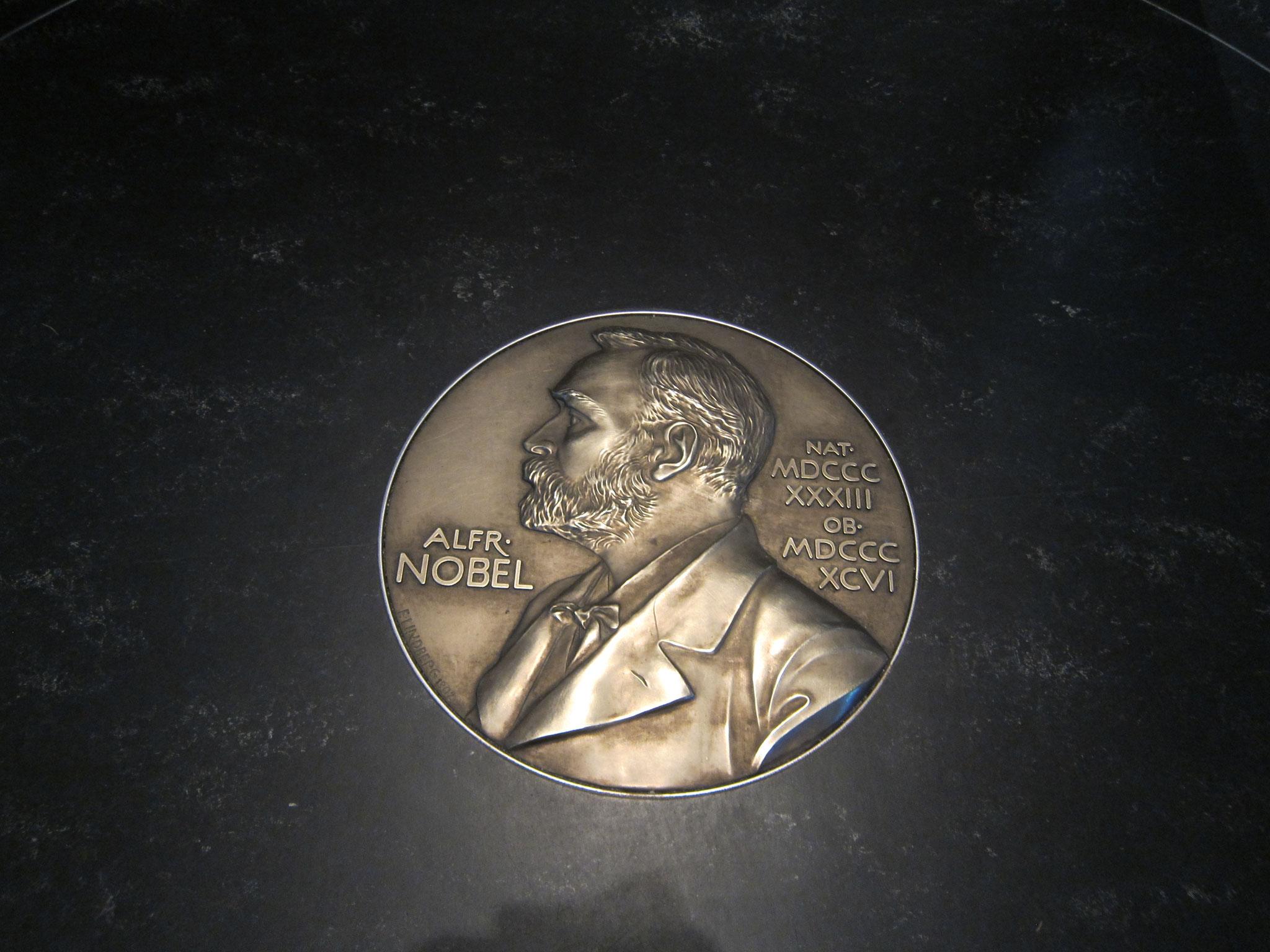 ノーベル賞のメダルですね