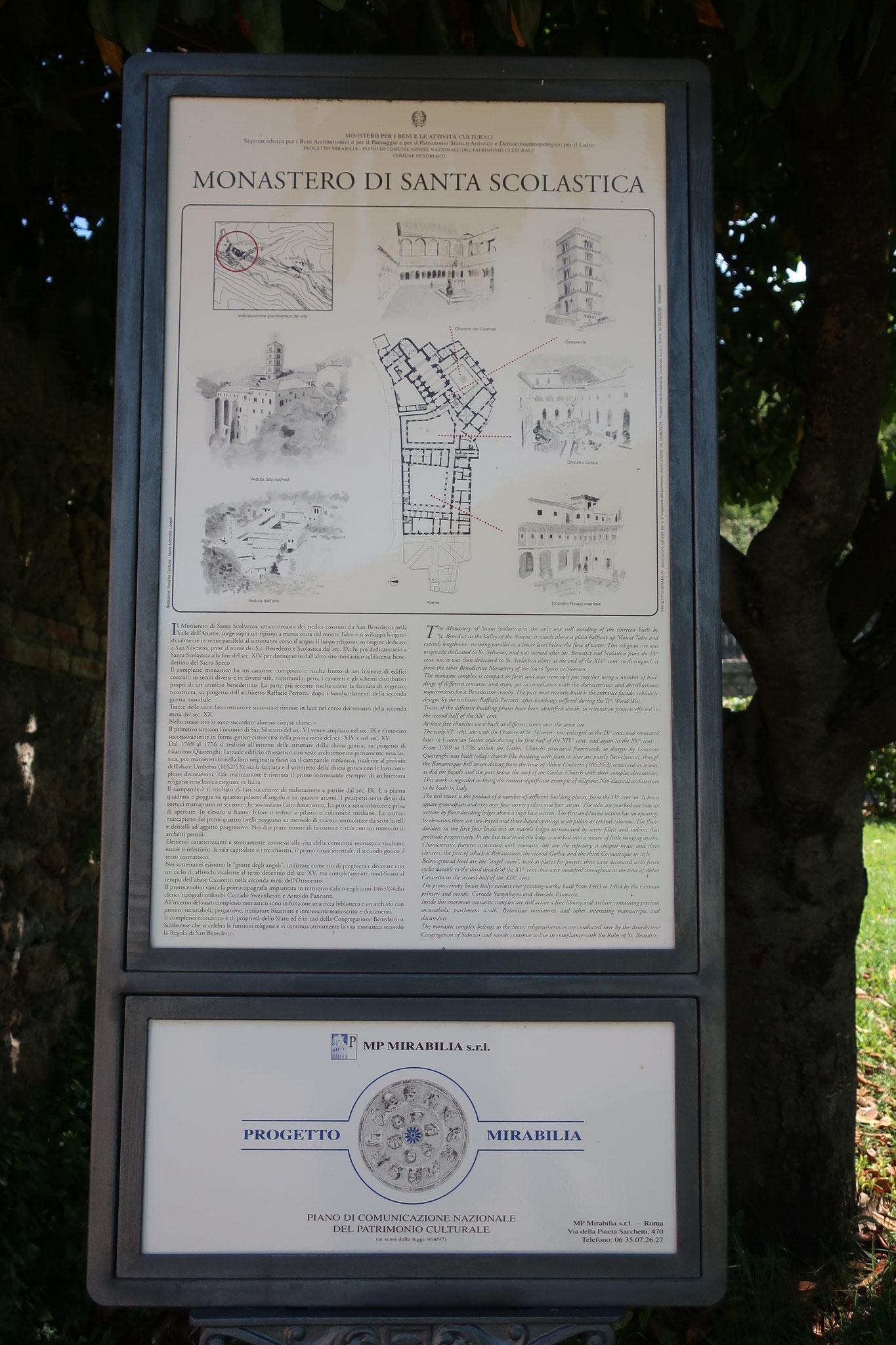 修道院の案内図