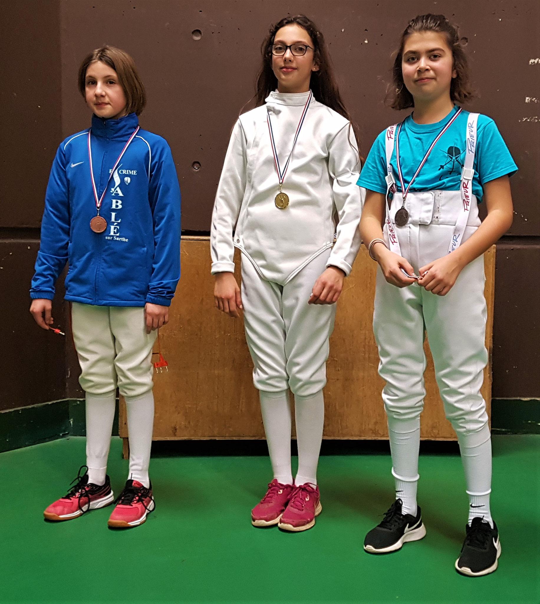 podium M13 Zoé 3ème