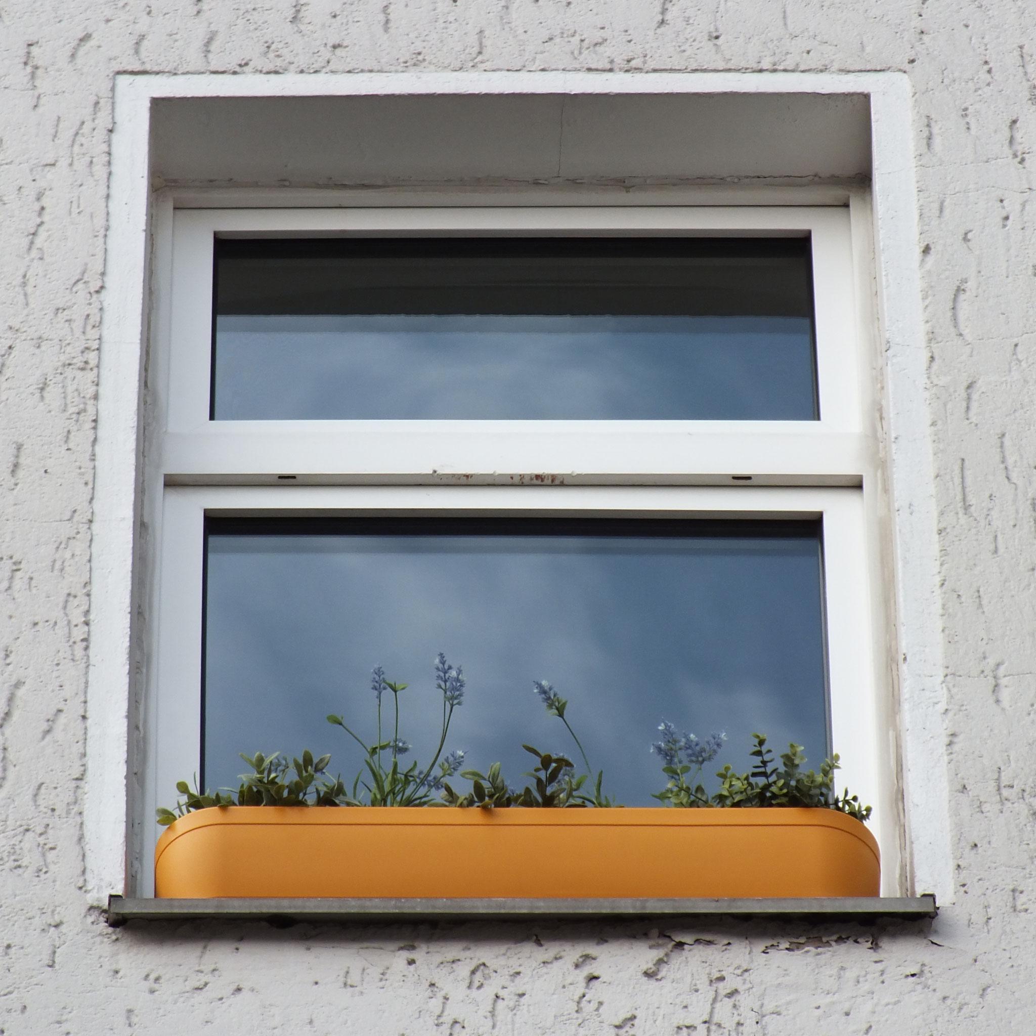 design blumenkasten f r das fenster ohne bohren balkon. Black Bedroom Furniture Sets. Home Design Ideas
