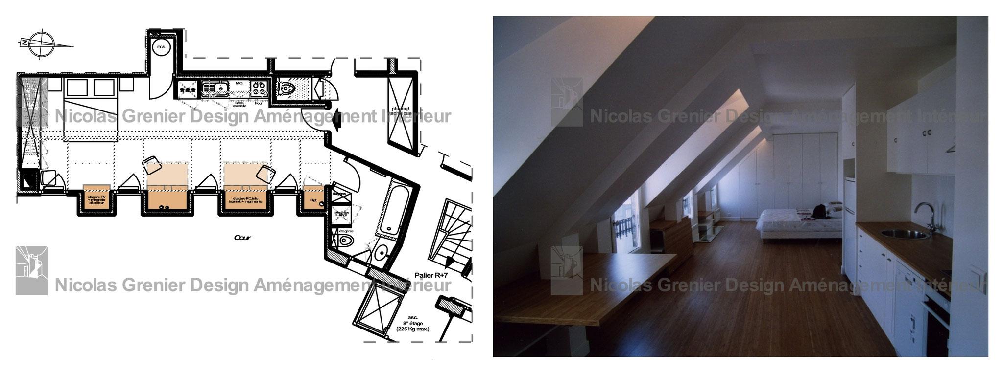 Aménagement Grenier En Chambre Autorisation quelques prestations - ngdai - nicolas grenier, design