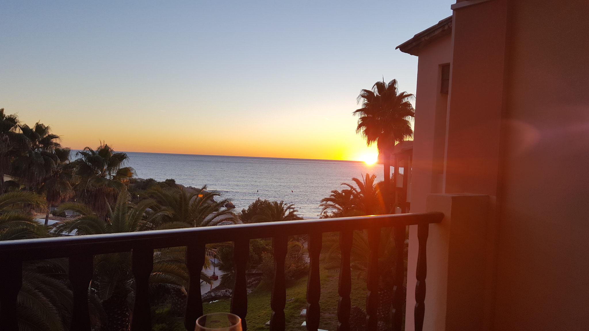Sonnenuntergang aus dem Apartment der Kommissarin