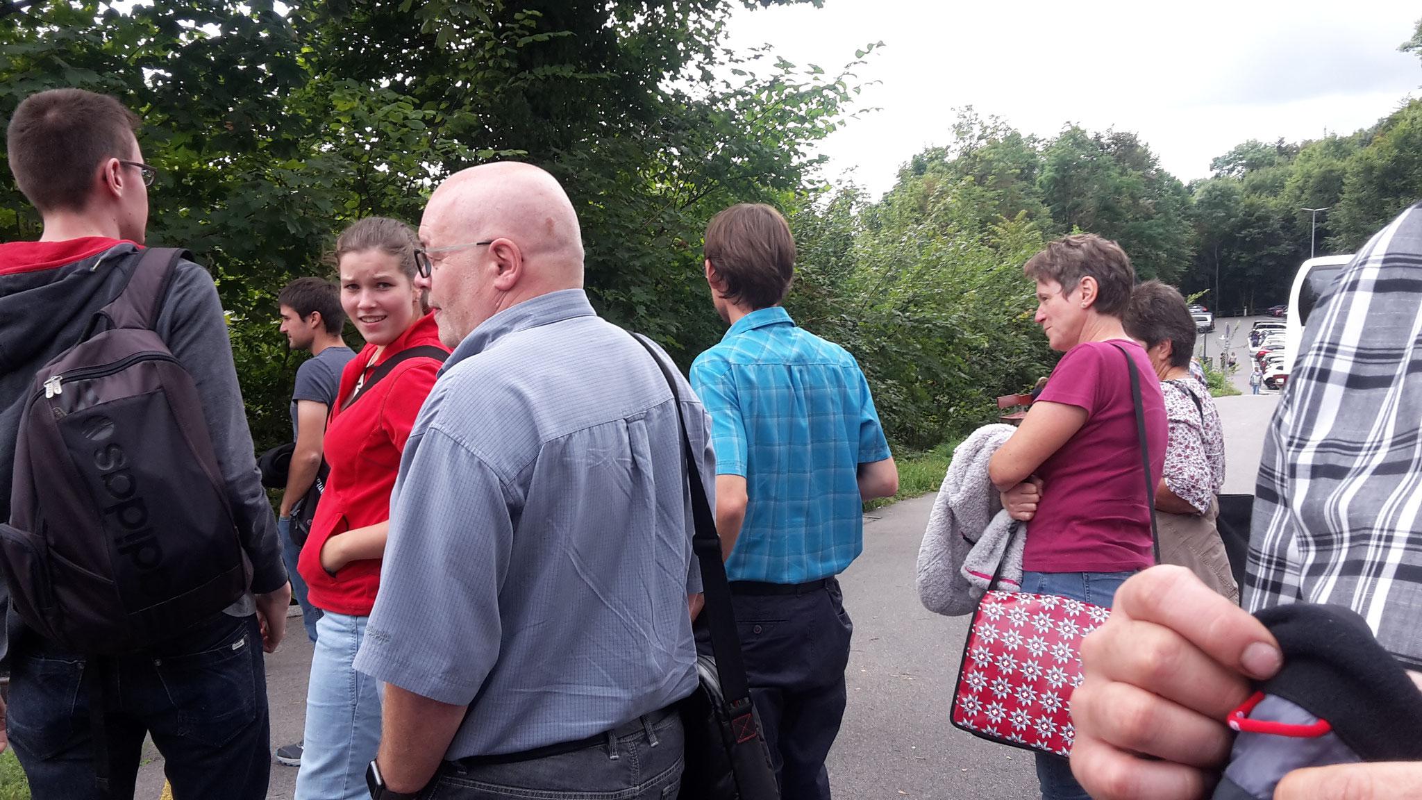 Am Rheinfall...