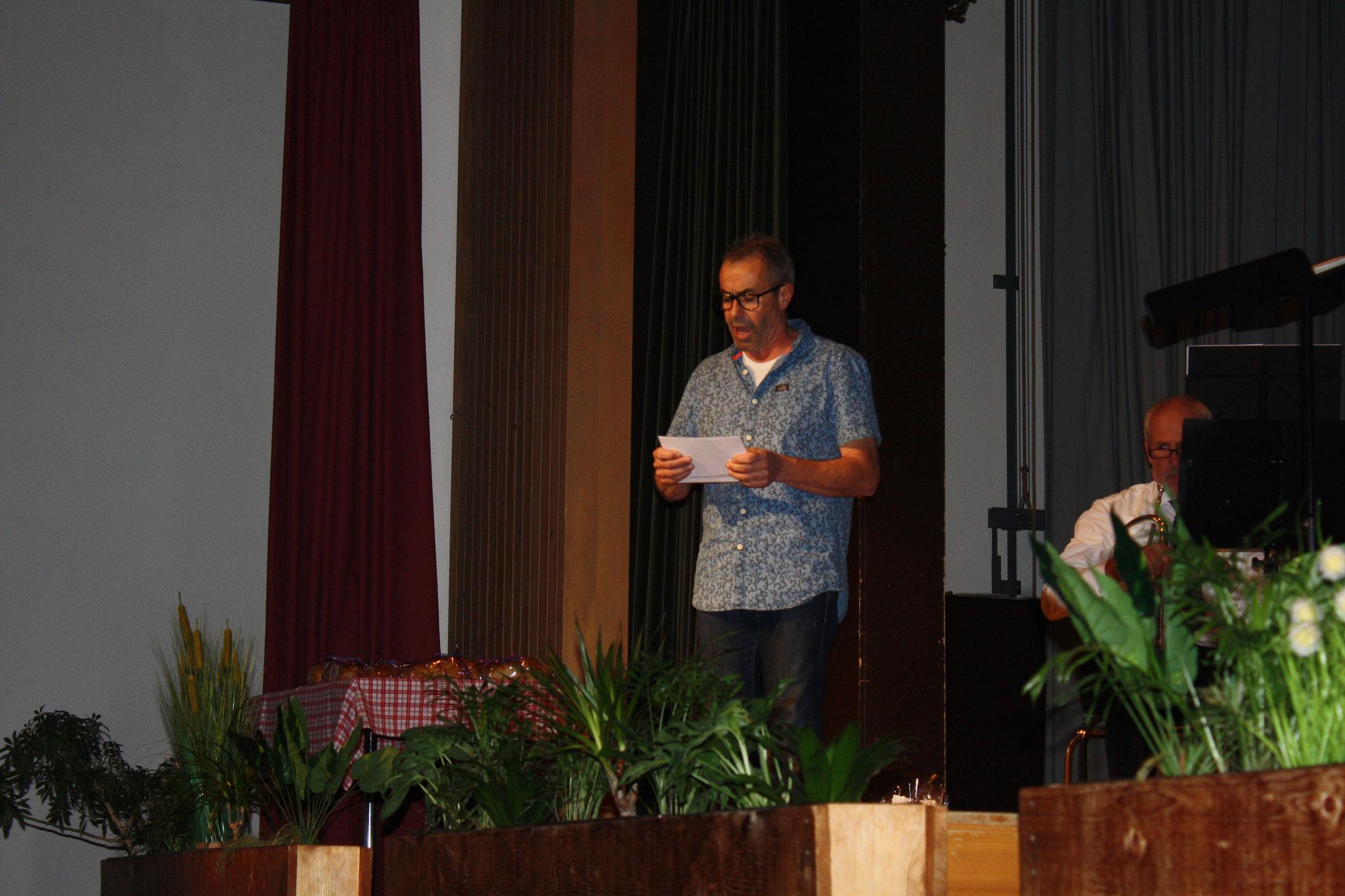 Jürg, unser bewährter Moderator, welcher auf lustige Art durch das Programm führte