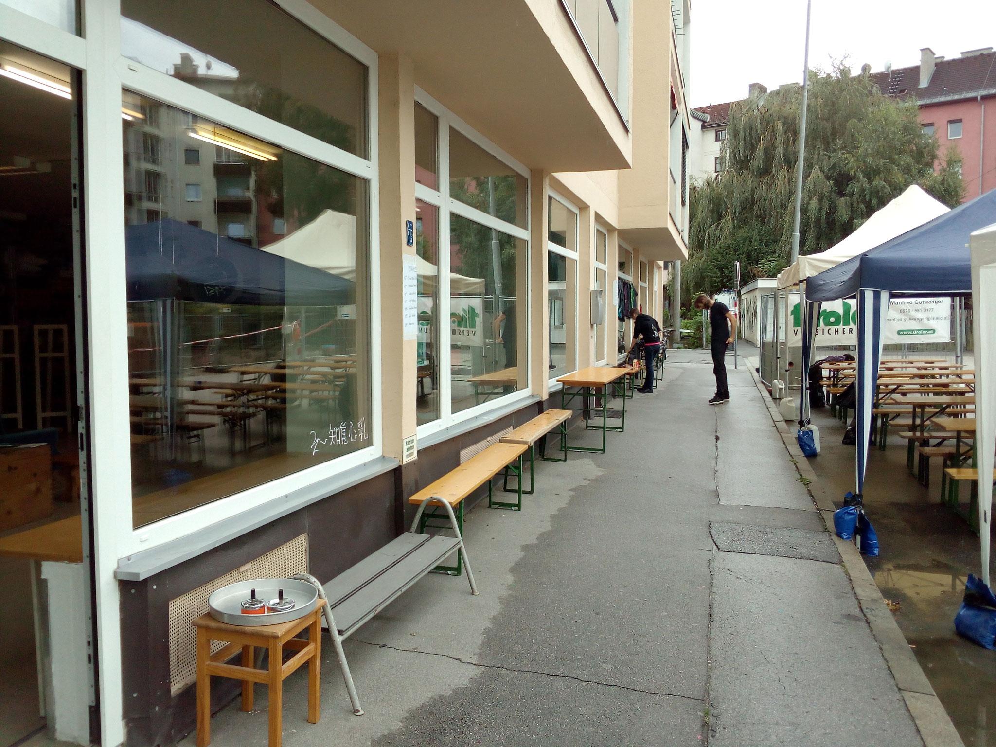 Atelier's und Zelte