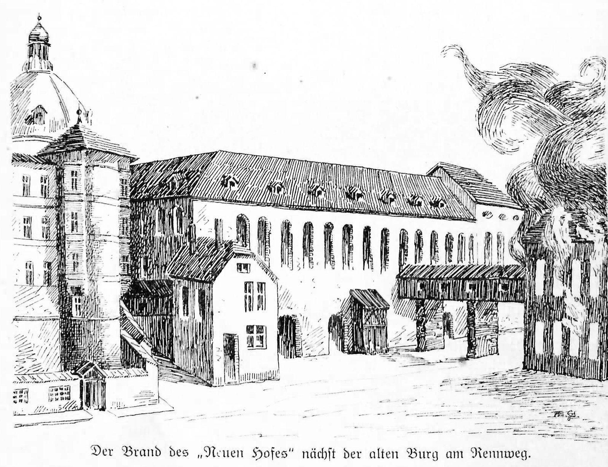 Brand des Neuen Hofes 1728