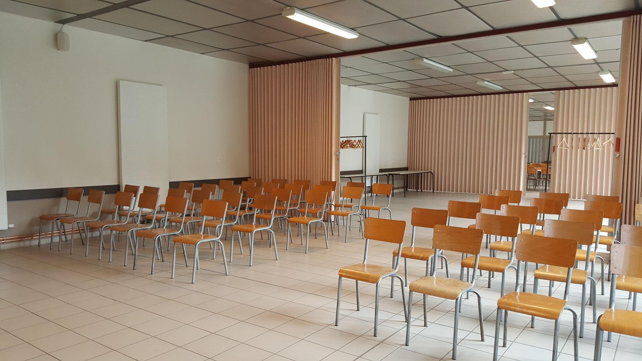 La salle fractionnable avec cloisons amovibles