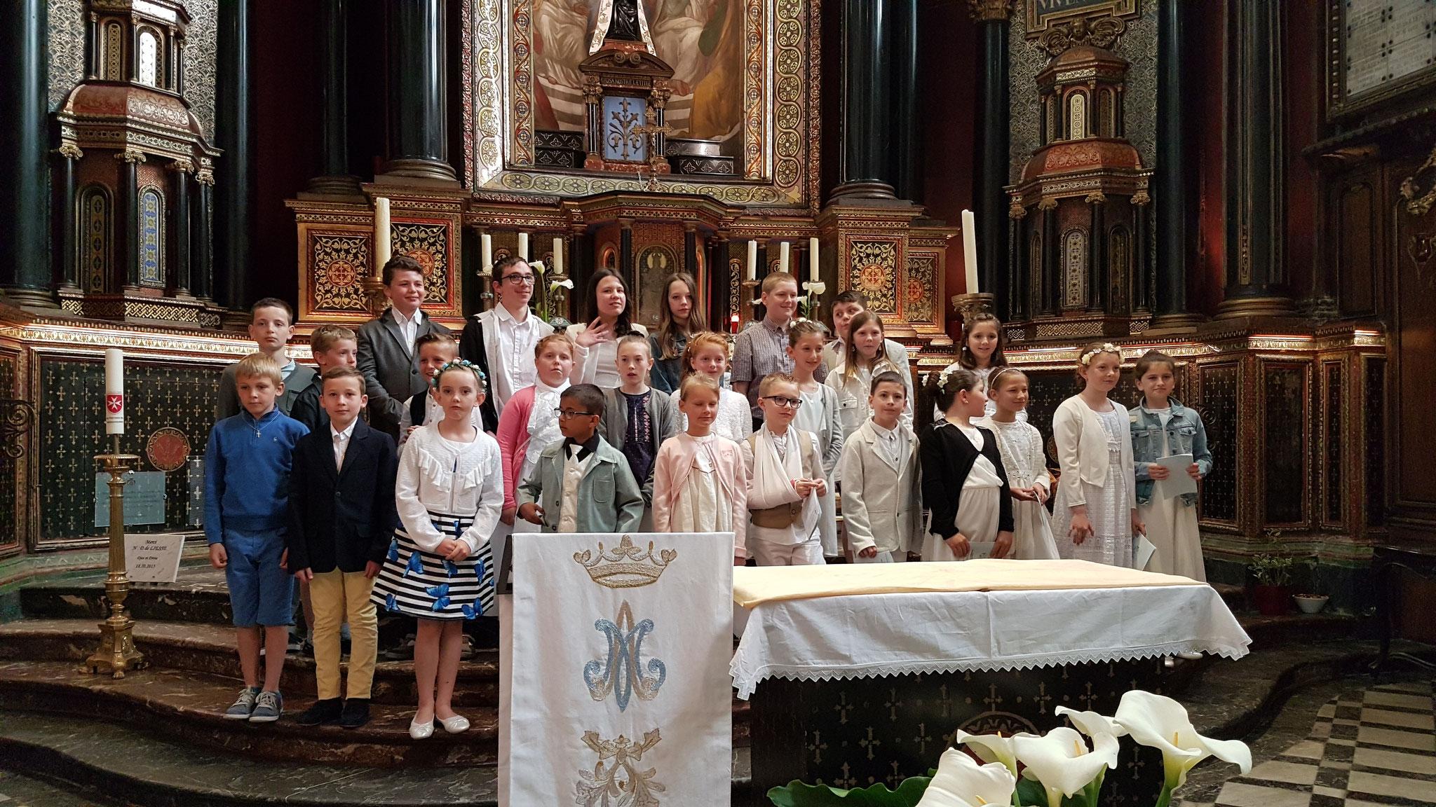 Première communion à Liesse le 30 mai 2019