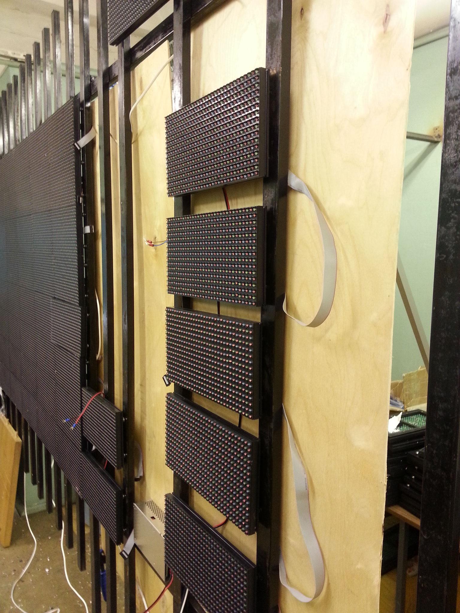 Светодиодный экран на магнитах