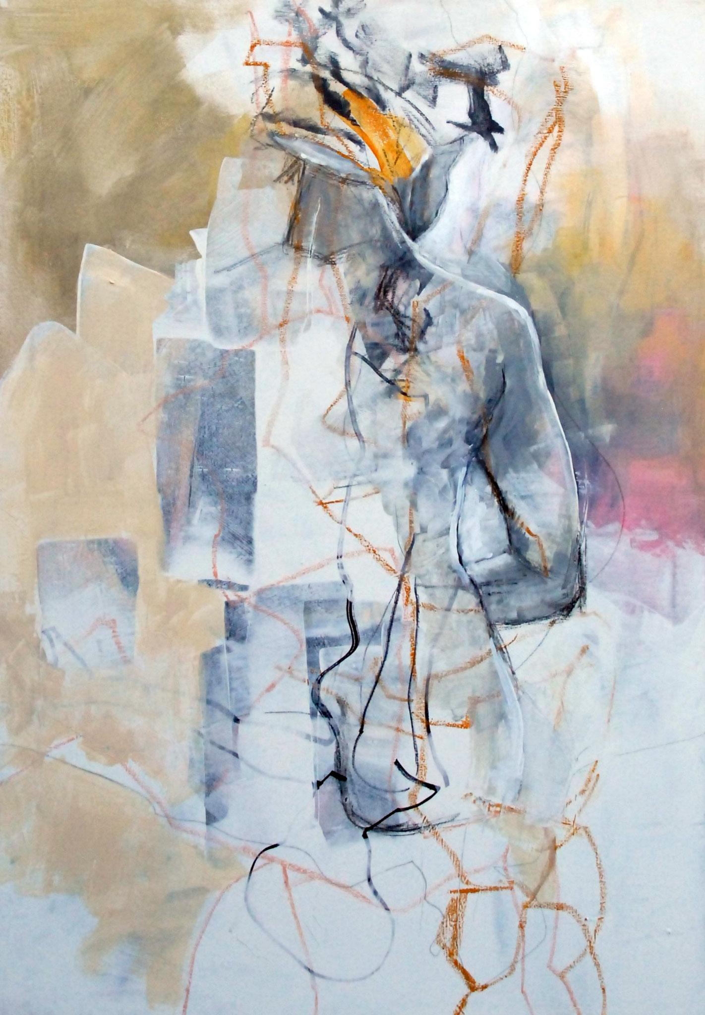 Back, Acryl und Stifte auf Leinwand, 100cm x 70cm