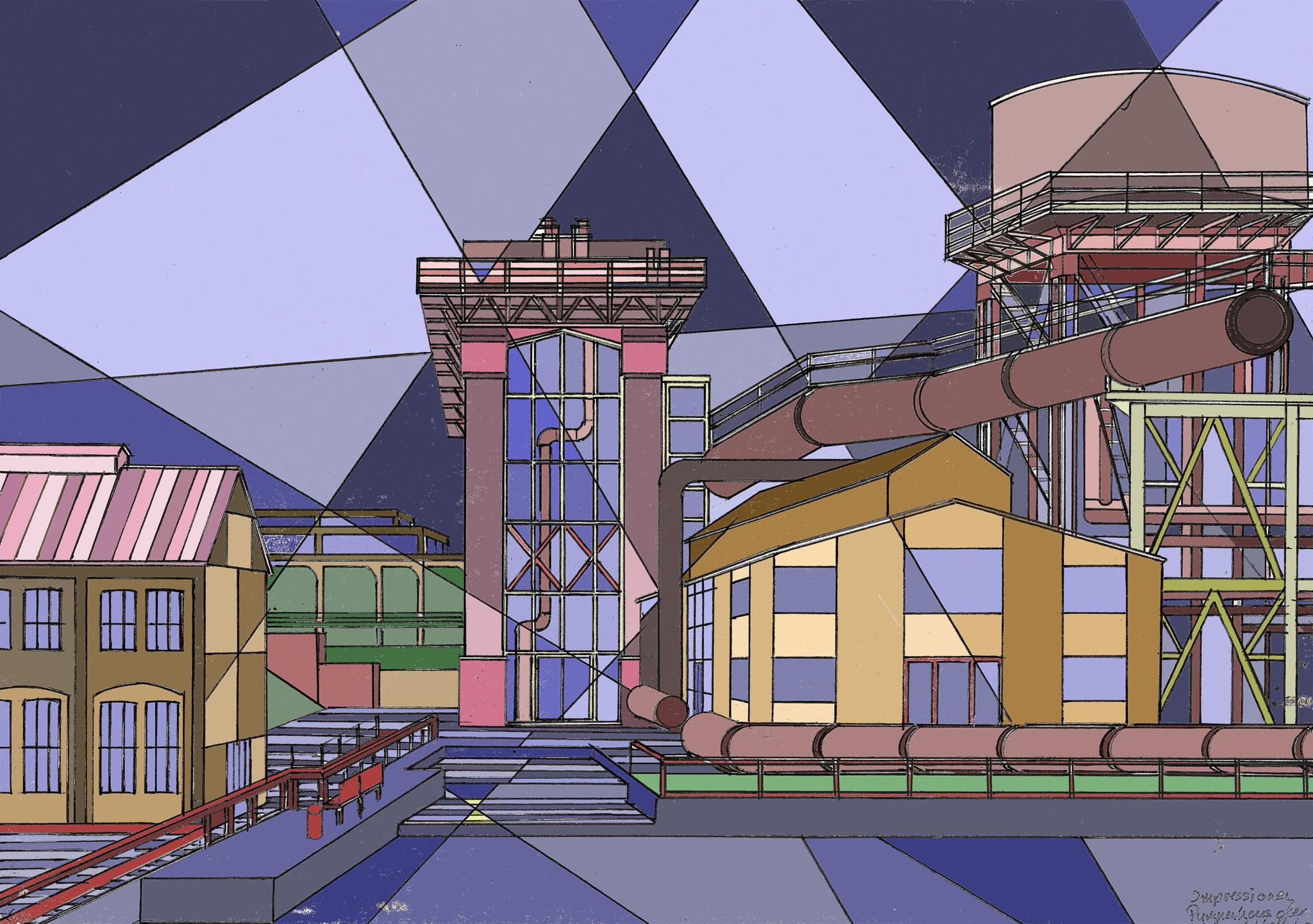Bochum - Pumpenhaus an der Jahrhunderthalle